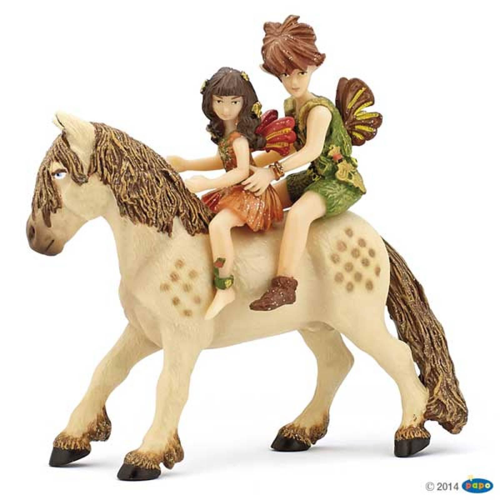 PAPO Elf Children and Pony Fairy Horse Fairy Figures