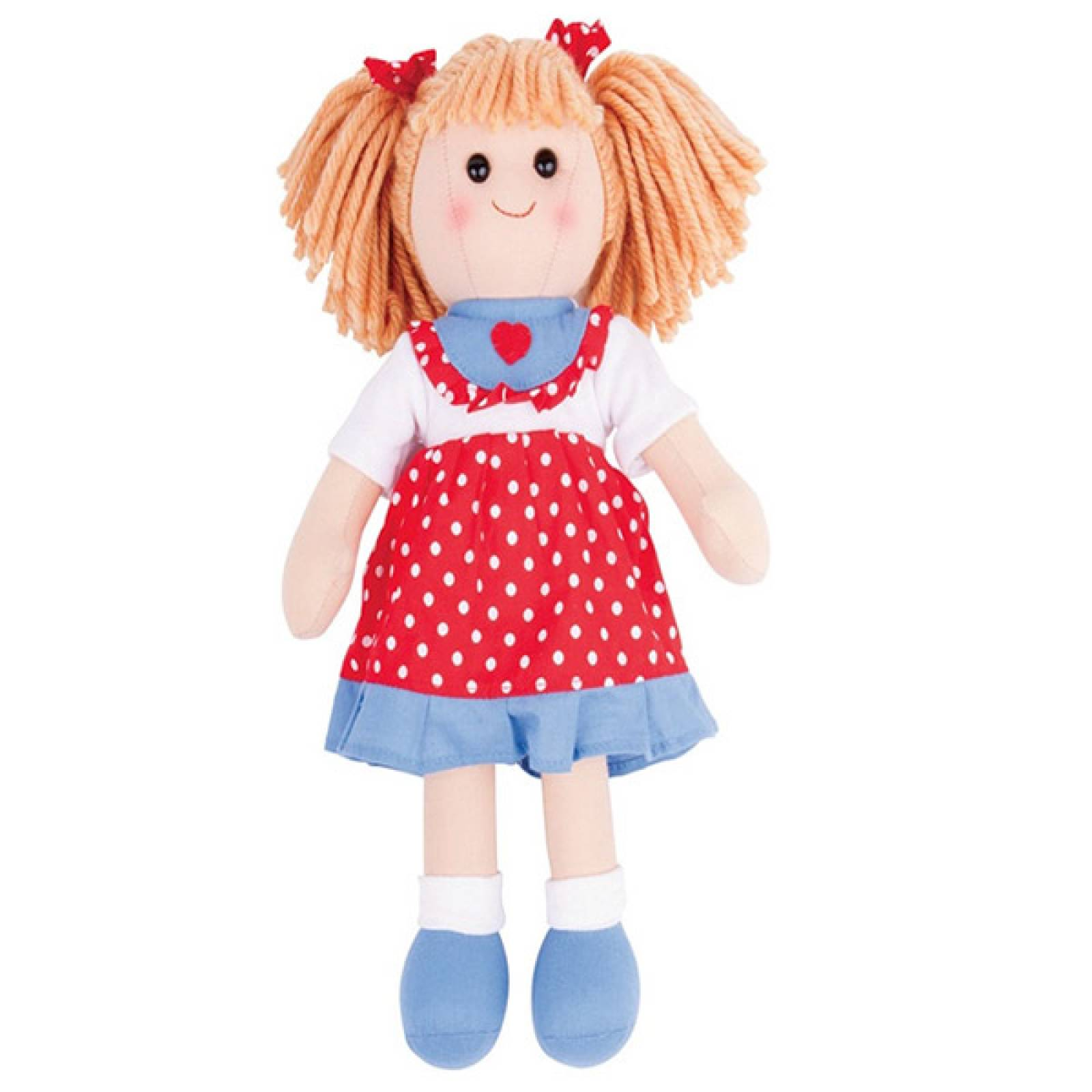 Emily Rag Doll Girl Traditional 34cm