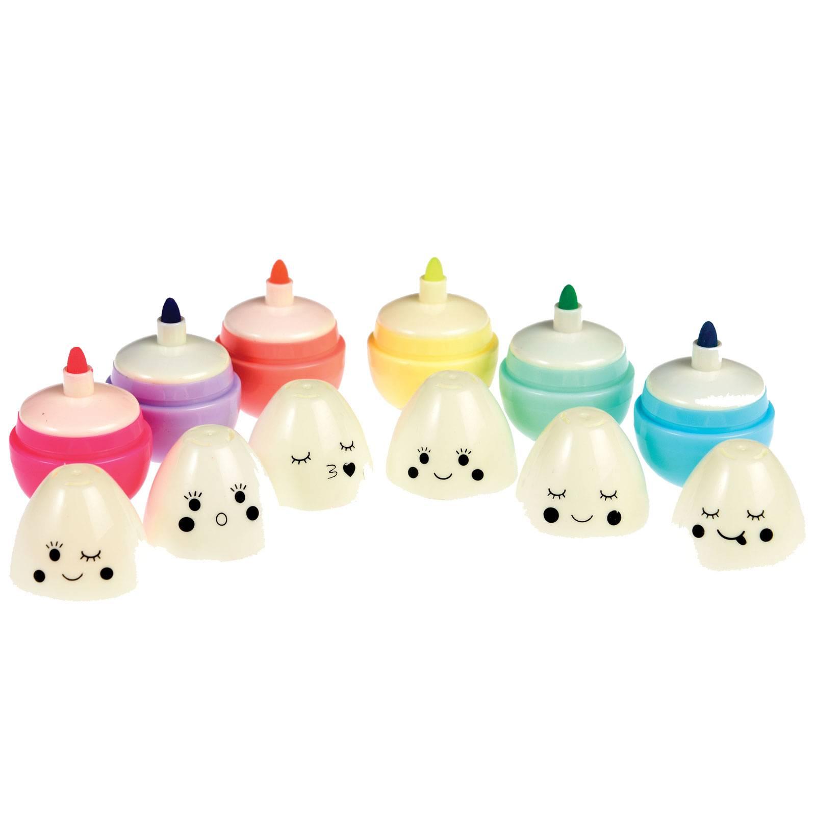 Emoji Egg Set Of 6 Felt Tip Pens