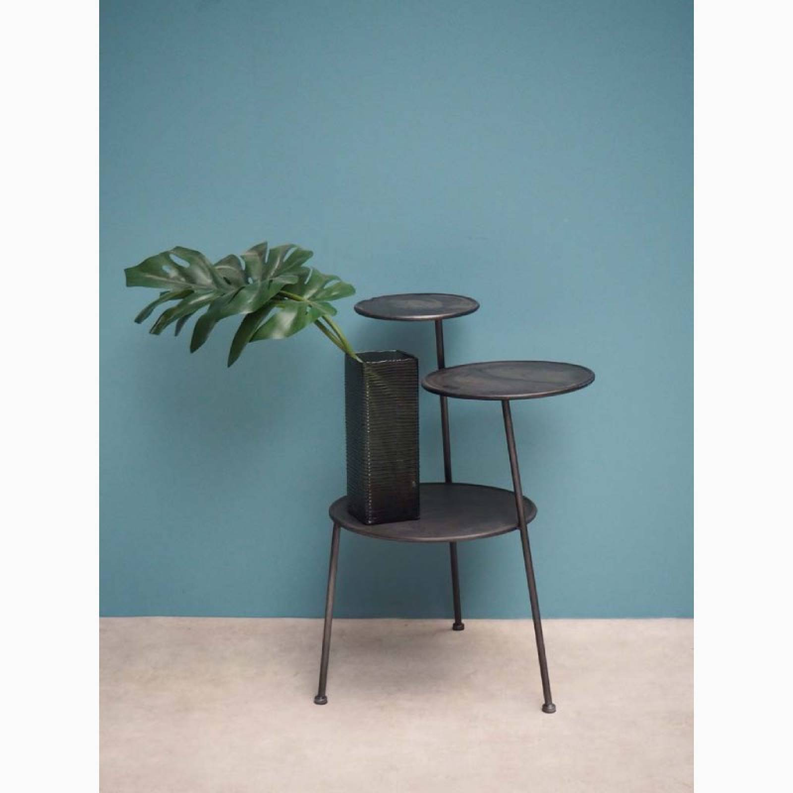 Escala Tiered Jardiniere Side Table thumbnails