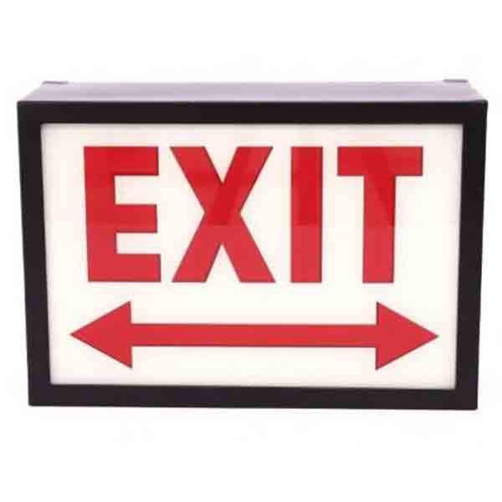 Exit Illuminated Sign Wall Mount Box Sign