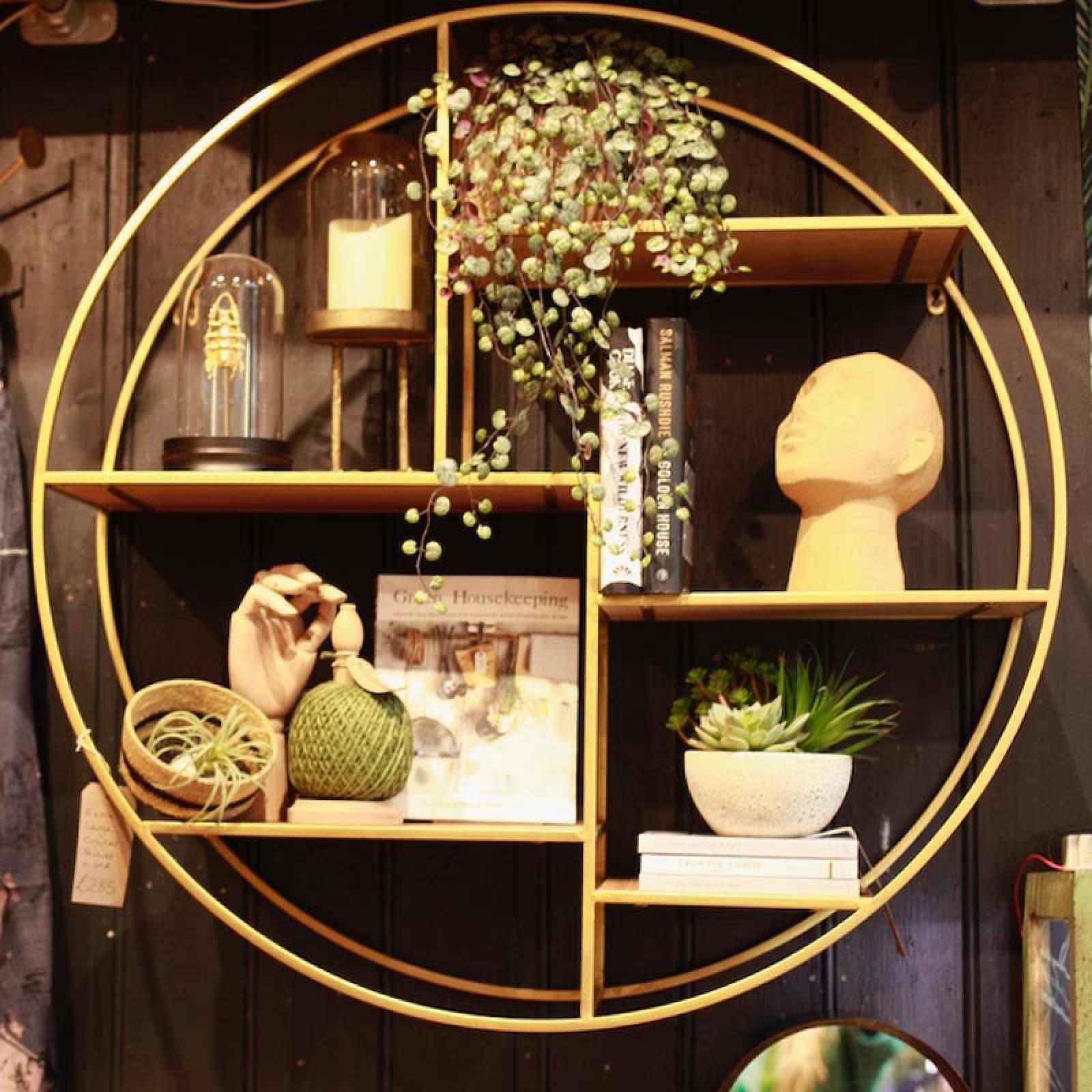 Extra Large Circular Shelves In Gold D:92cm thumbnails