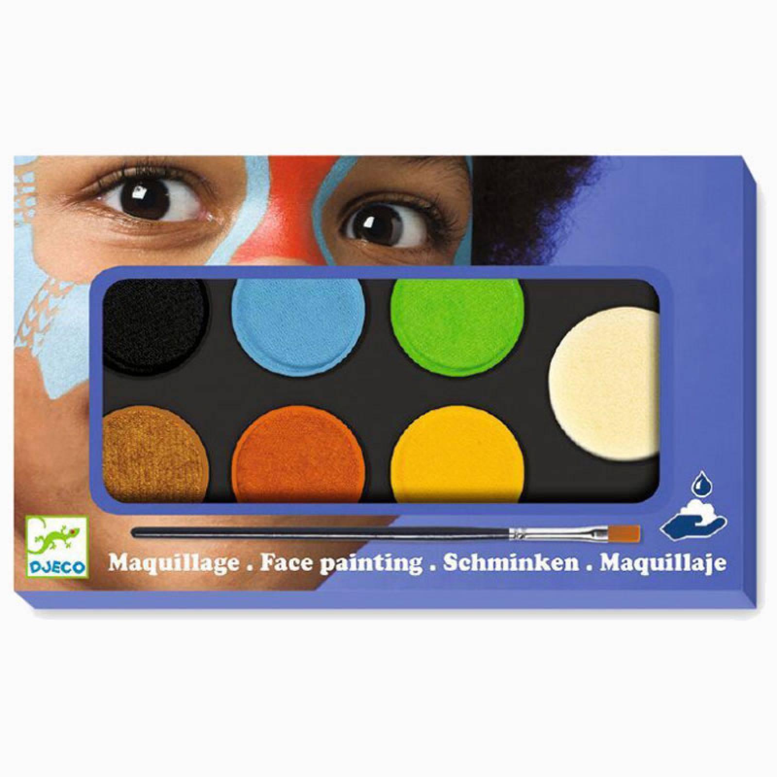 Face Painting Palette 6 Colours - Nature