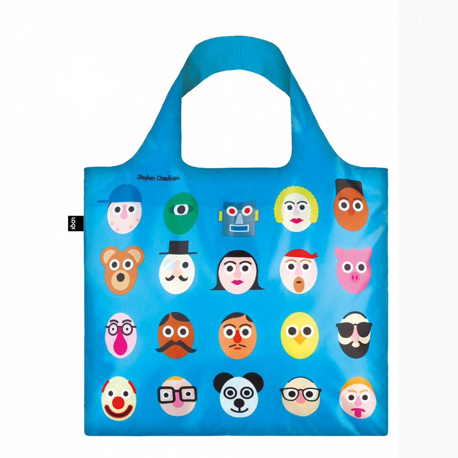 Faces - Reusable Tote Bag With Pouch