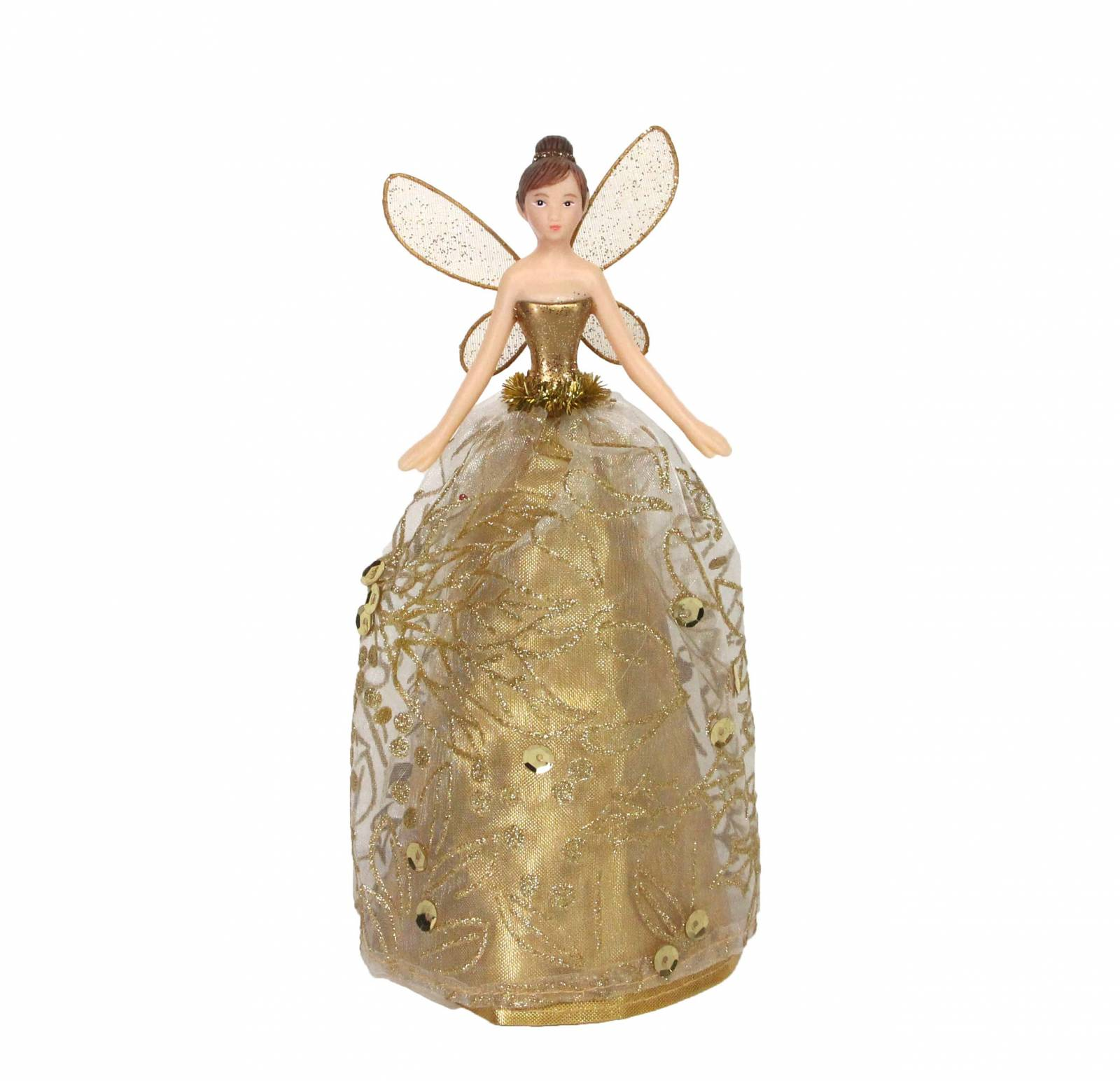 Small Gold Fairy Christmas Tree Topper By Gisela Graham