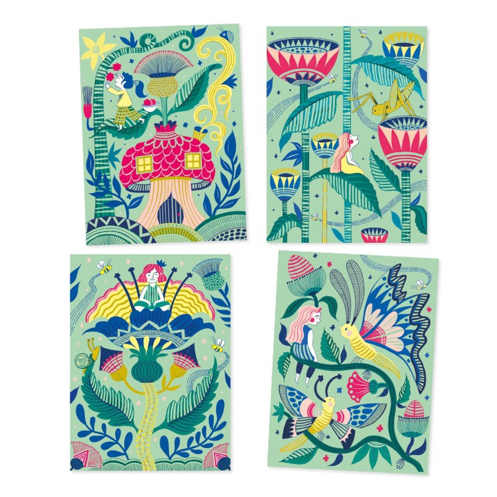 Fantasy Garden - Scratch Art Cards 6+ thumbnails