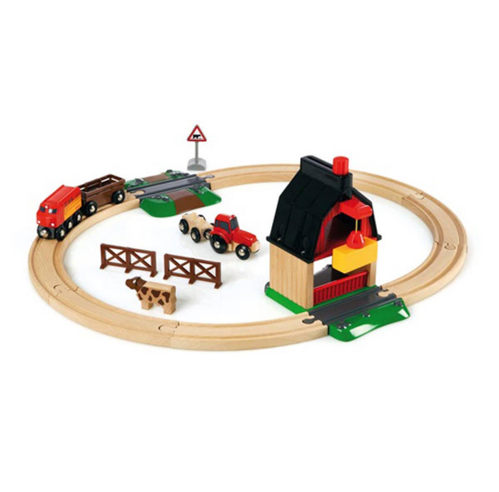 Farm Railway Set BRIO Wooden Railway 3+ thumbnails