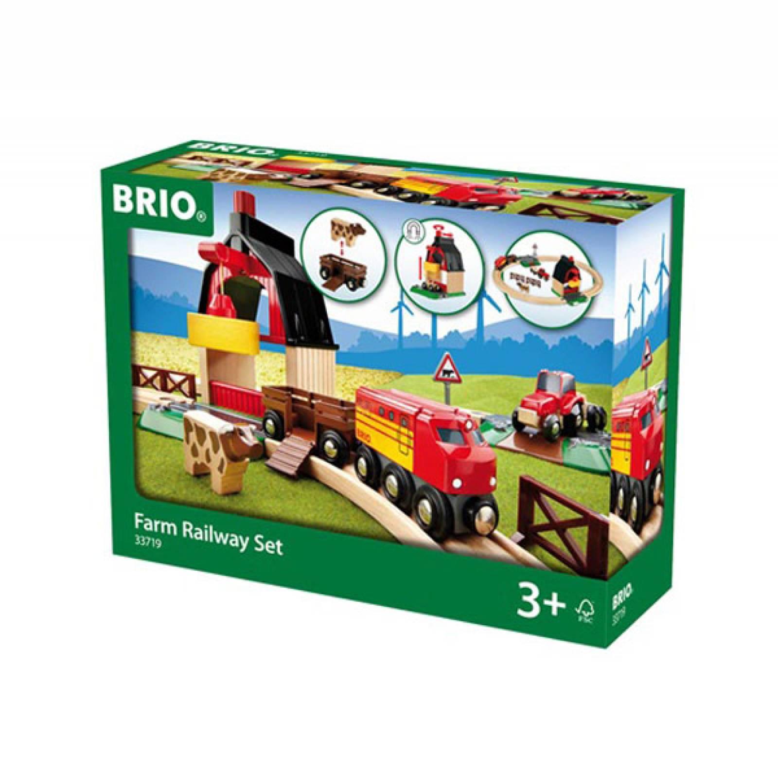Farm Railway Set BRIO Wooden Railway 3+