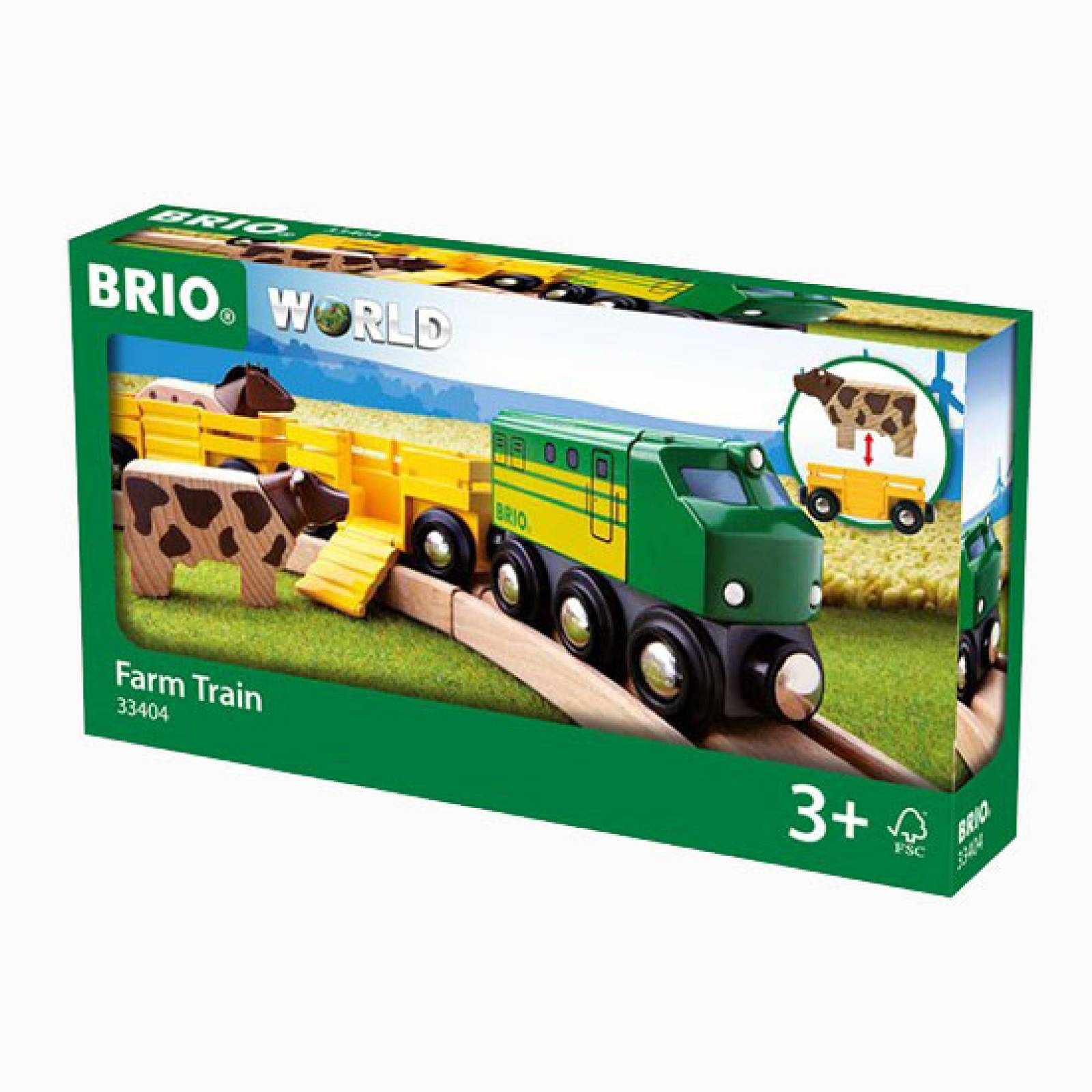 Farm Train BRIO Wooden Railway Age 3+ thumbnails