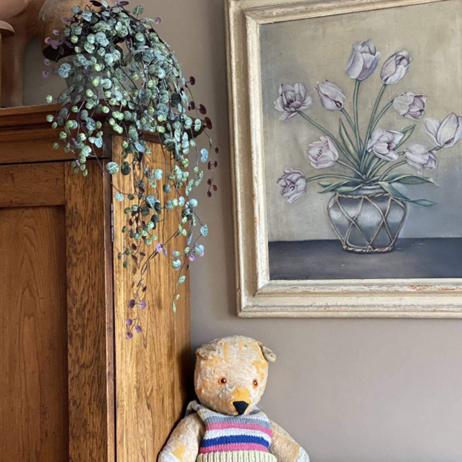 Faux Potted Purple Angel Vine Traling Plant thumbnails