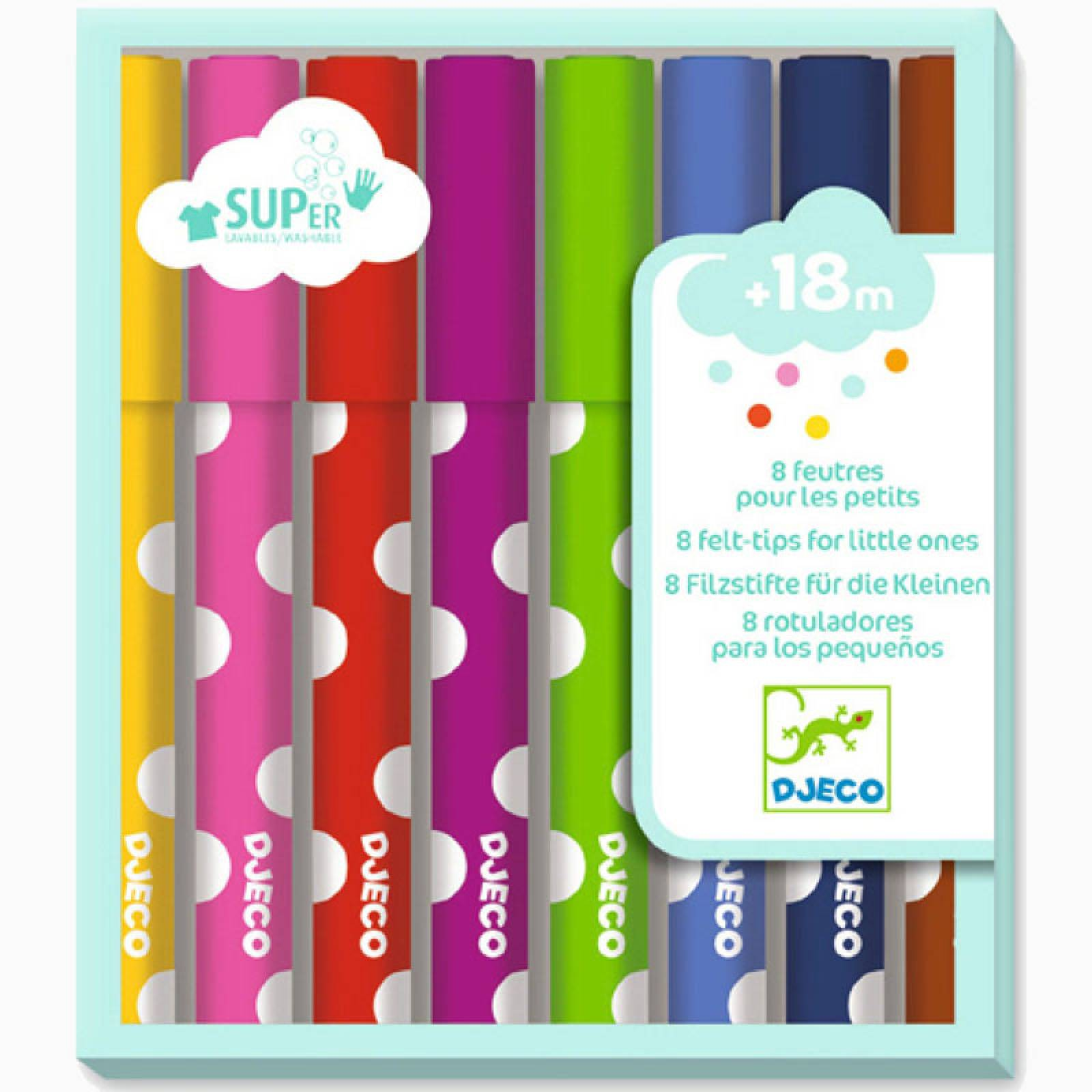 Pack Of 8 Felt Tip Pens For Little Ones 18m+ thumbnails