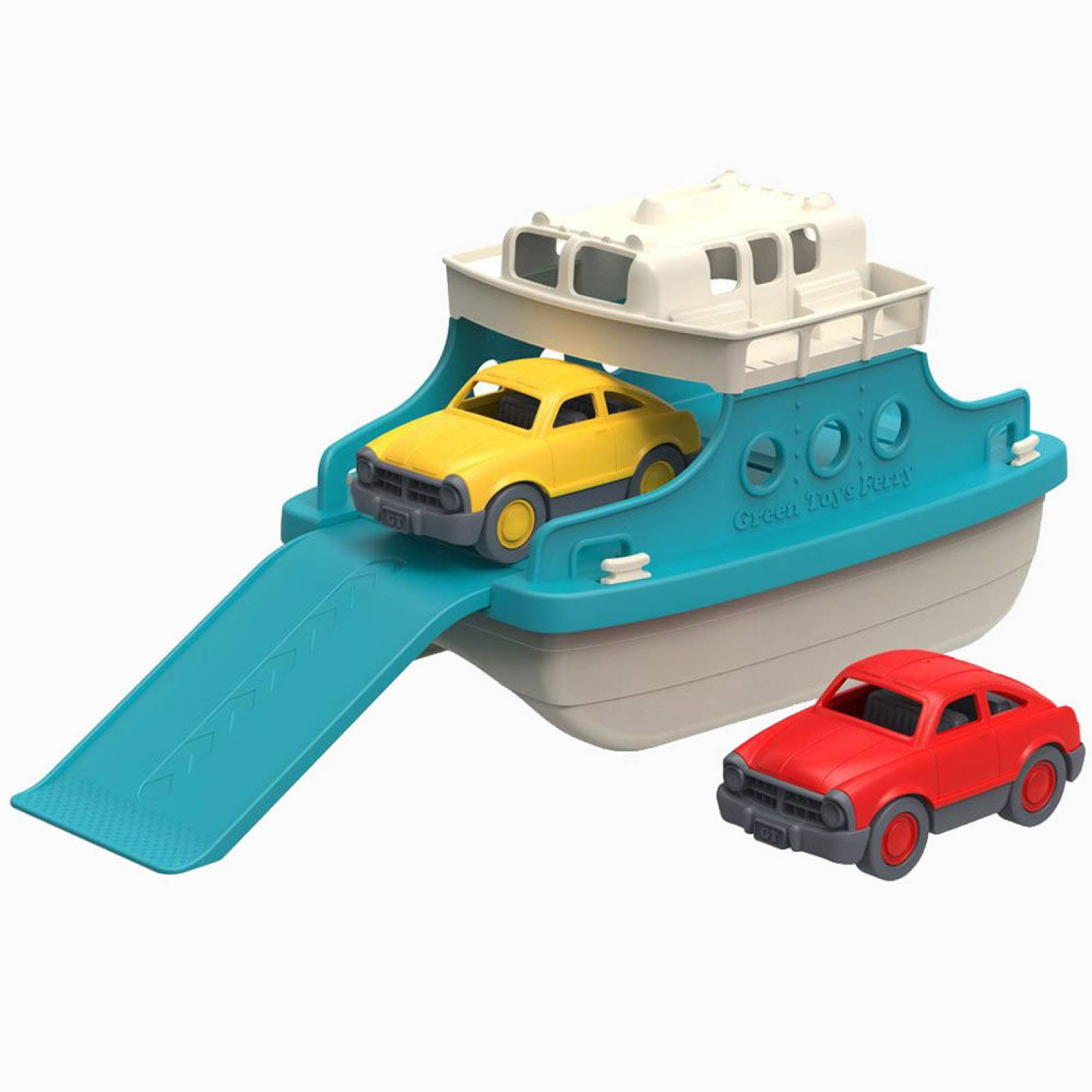 Blue Ferry Boat With Cars Toy By Green Toys 3+