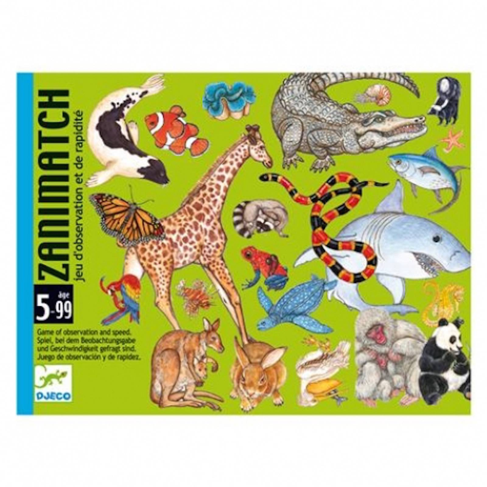 Zanimatch Card Game -Speed & Focus Animal Matching Game 5-99