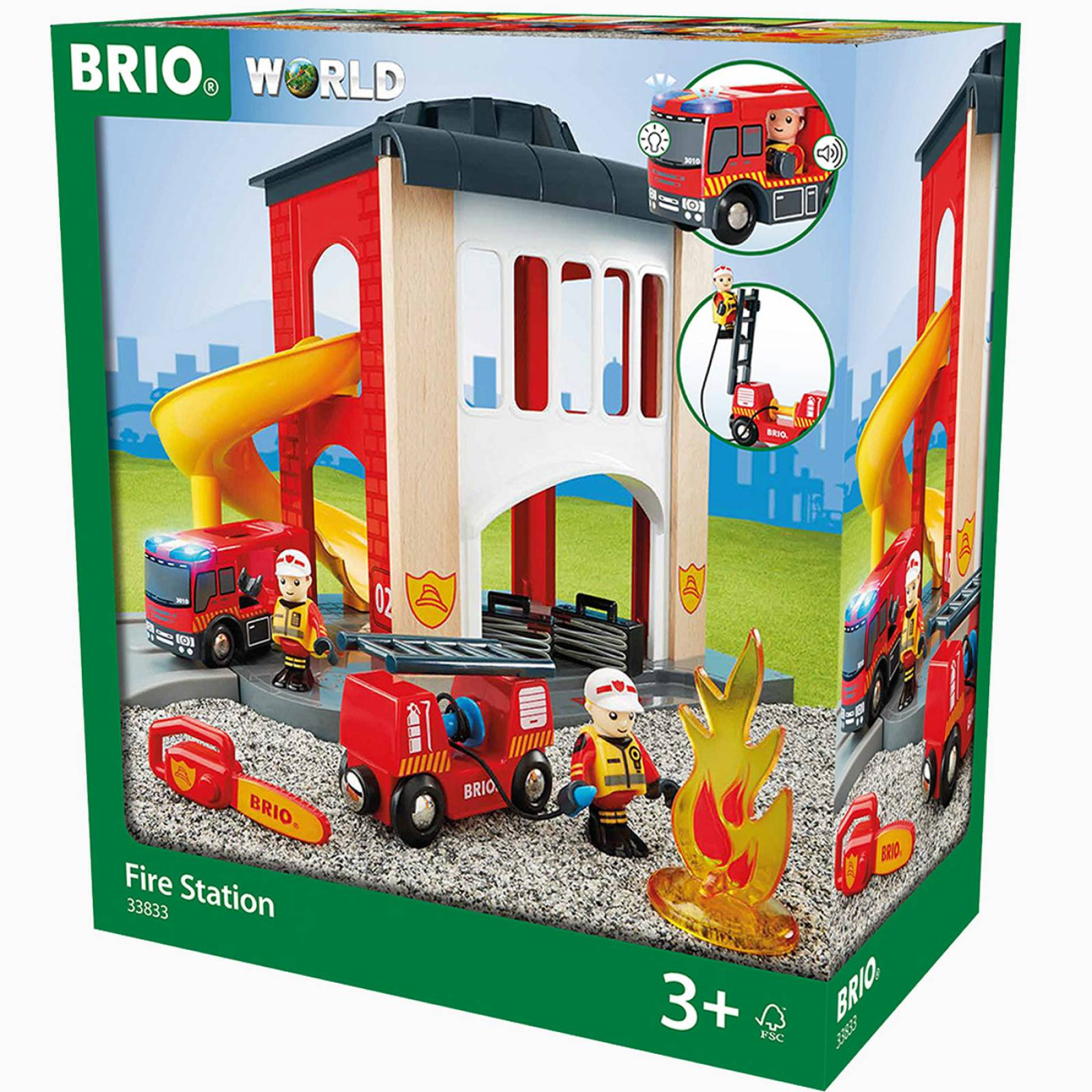 Fire Station BRIO® Wooden Railway Age 3+