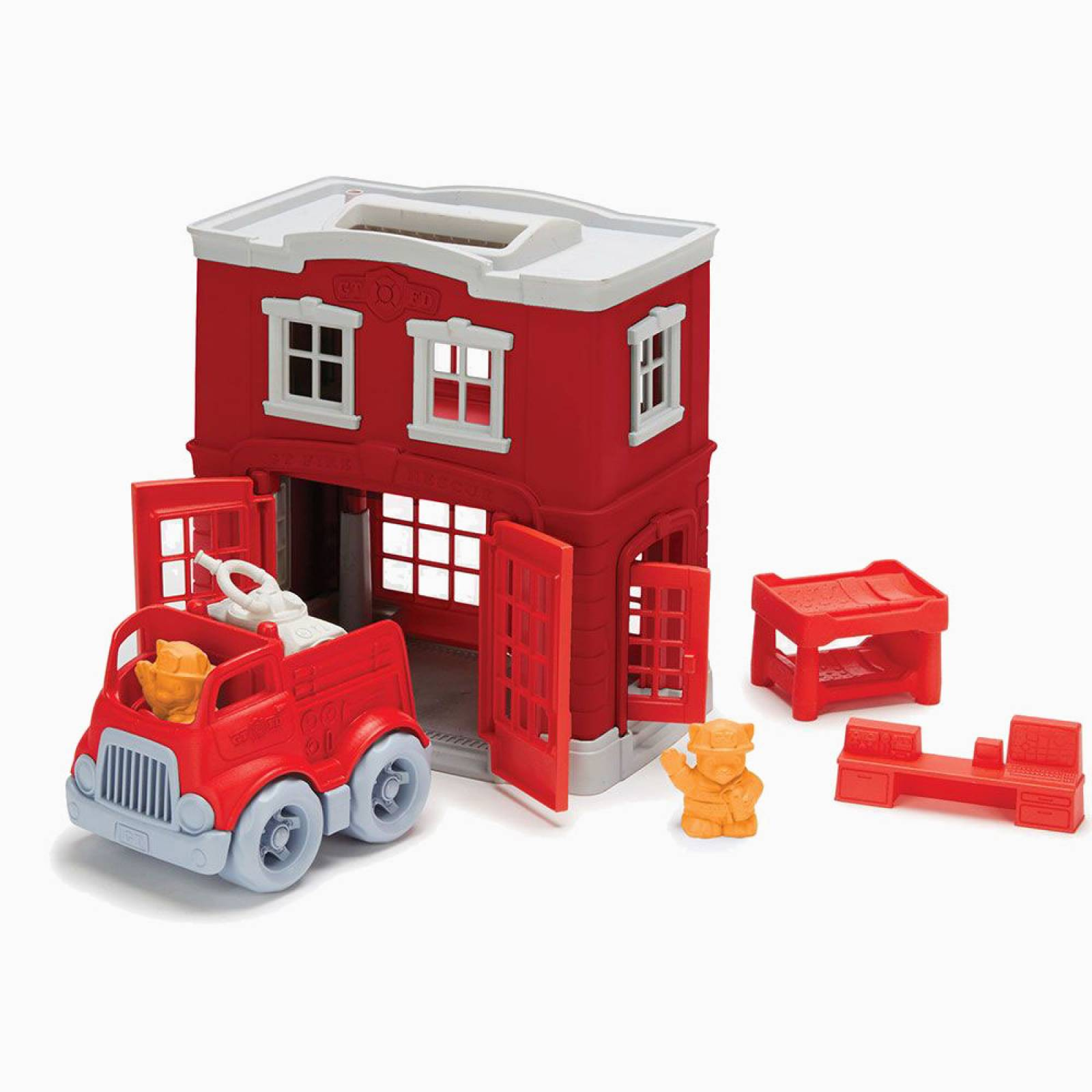 Fire Station Playset By Green Toys - Recycled Plastic 2-6yrs thumbnails