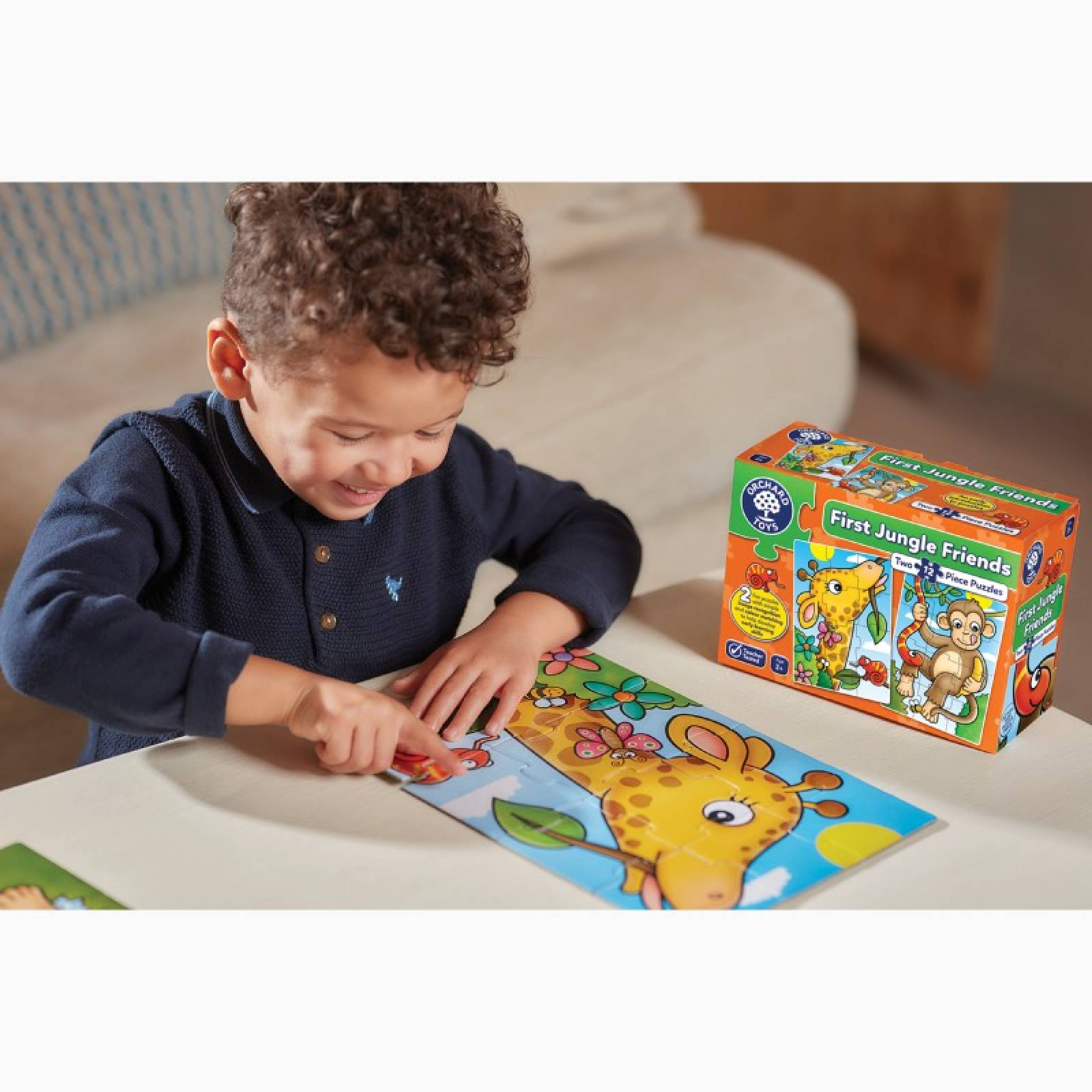 First Jungle Friends Jigsaw Puzzles By Orchard Toys 2+ thumbnails