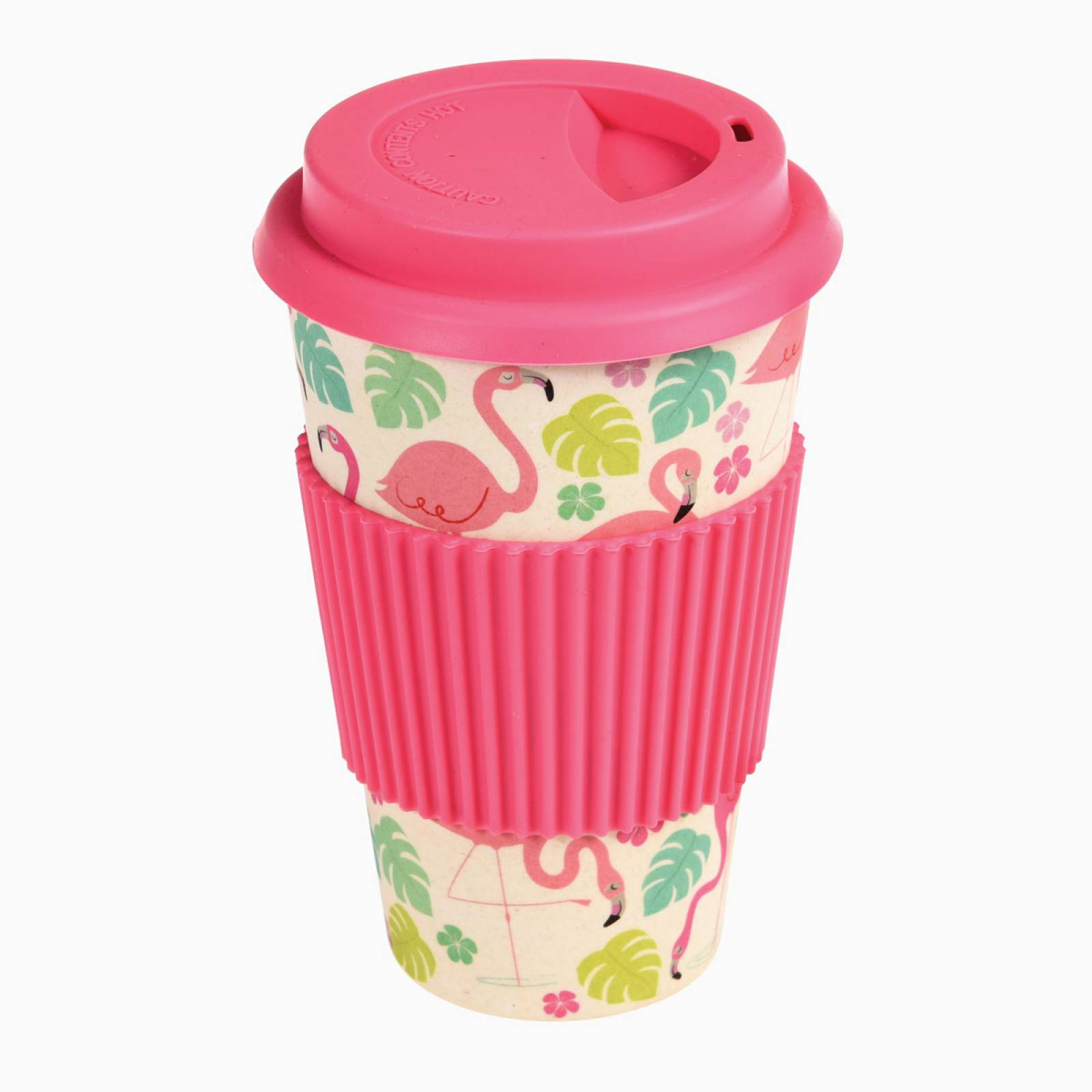 Flamingo Bamboo Travel Mug