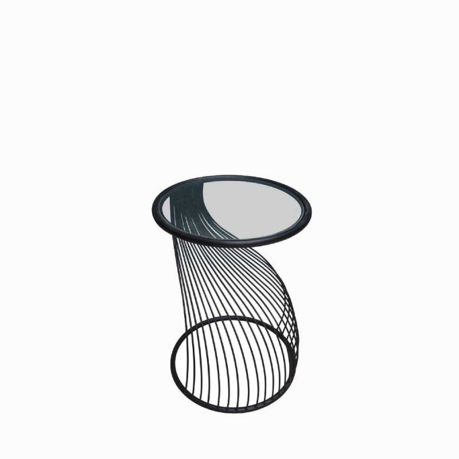 Flow Metal And Glass Side Table