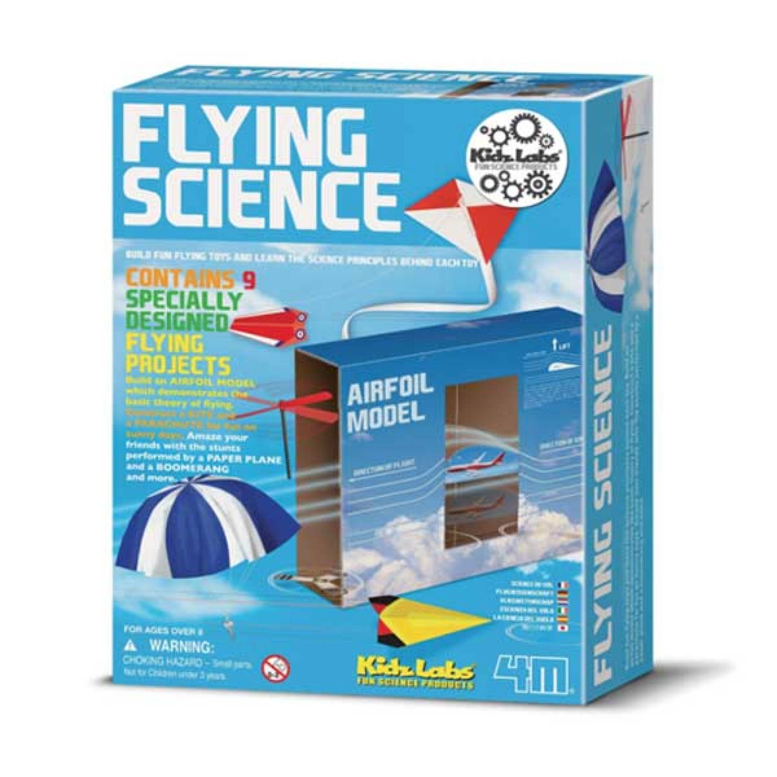 Flying Science Kit - Kids Lab 4M 8yrs+
