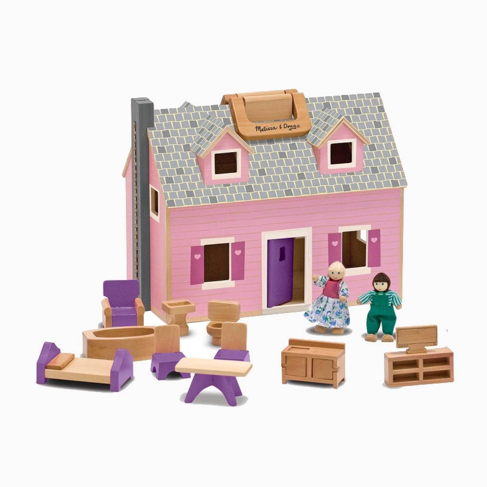 Fold And Go Mini Dolls House 3+