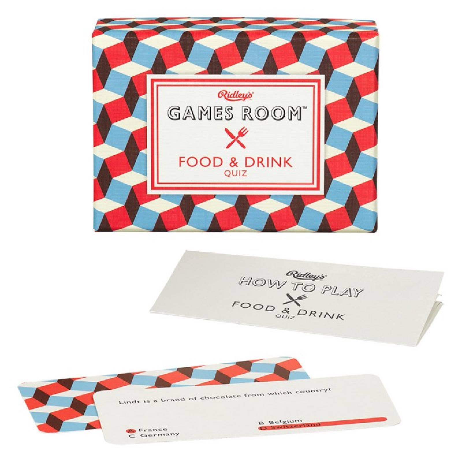 Food & Drink Quiz Game In Retro Box