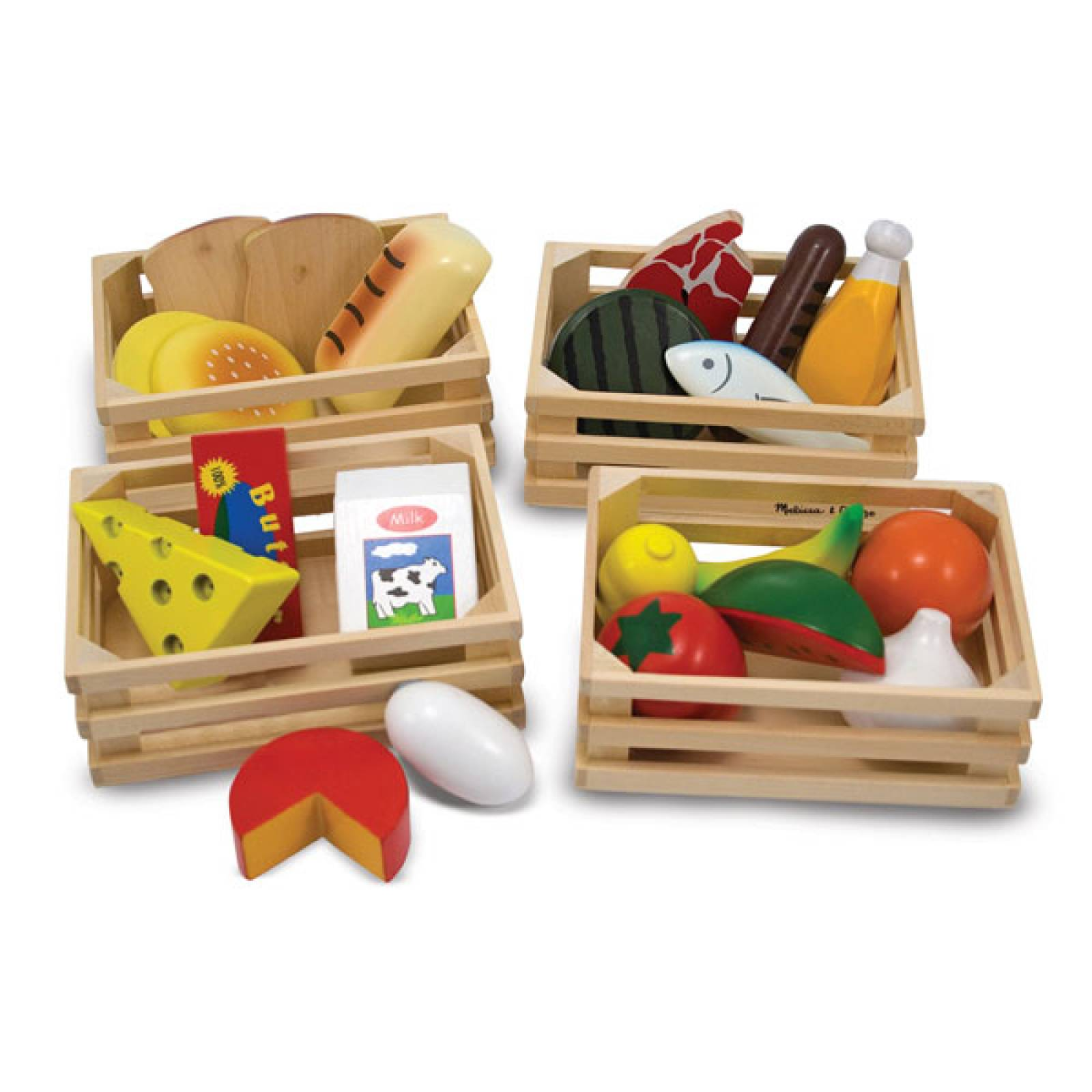 Food Groups Wooden Play Food 3+