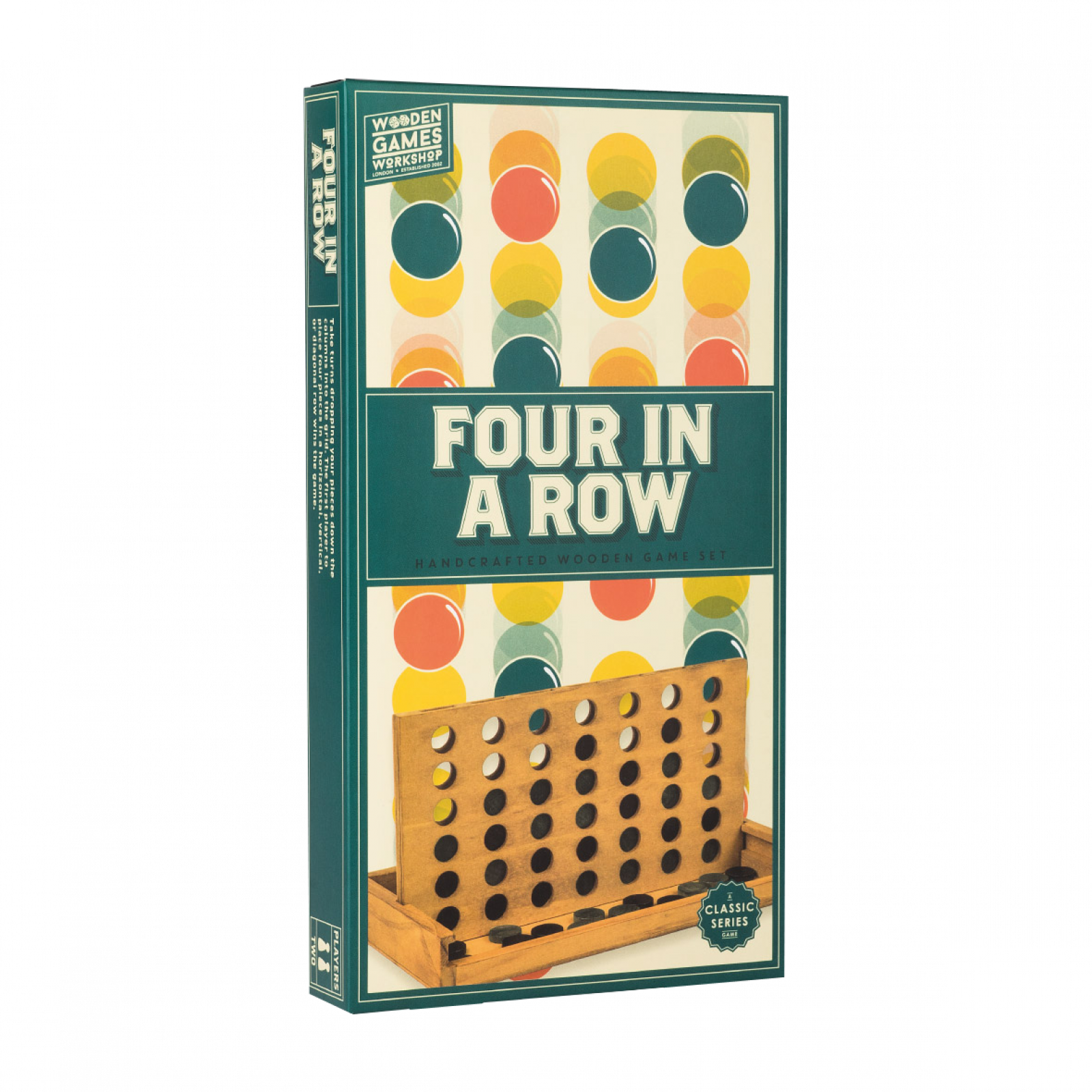 Four In A Row Handcrafted Wooden Board Game 3+
