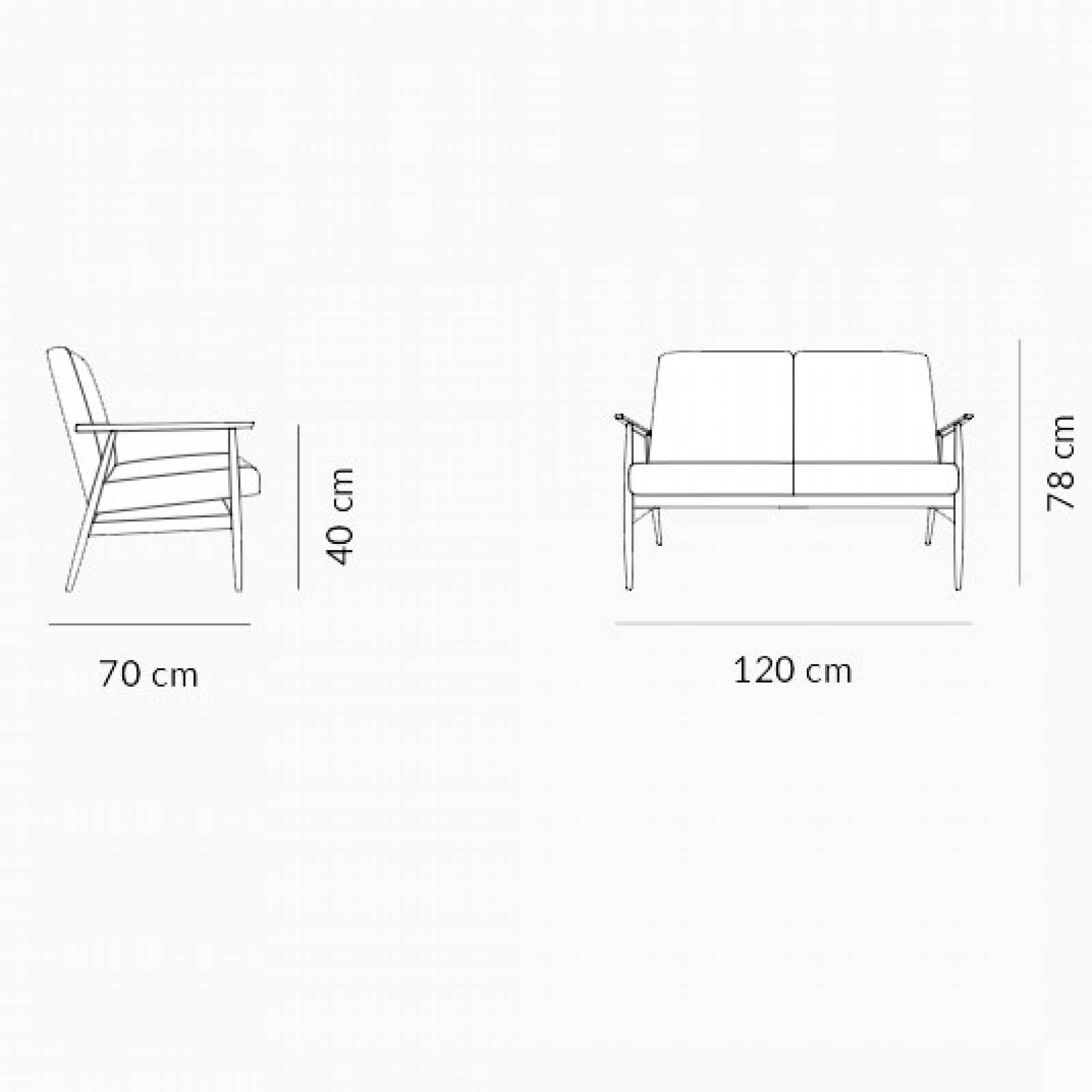 Fox 2 Seater Sofa - Type 1 Fabric thumbnails