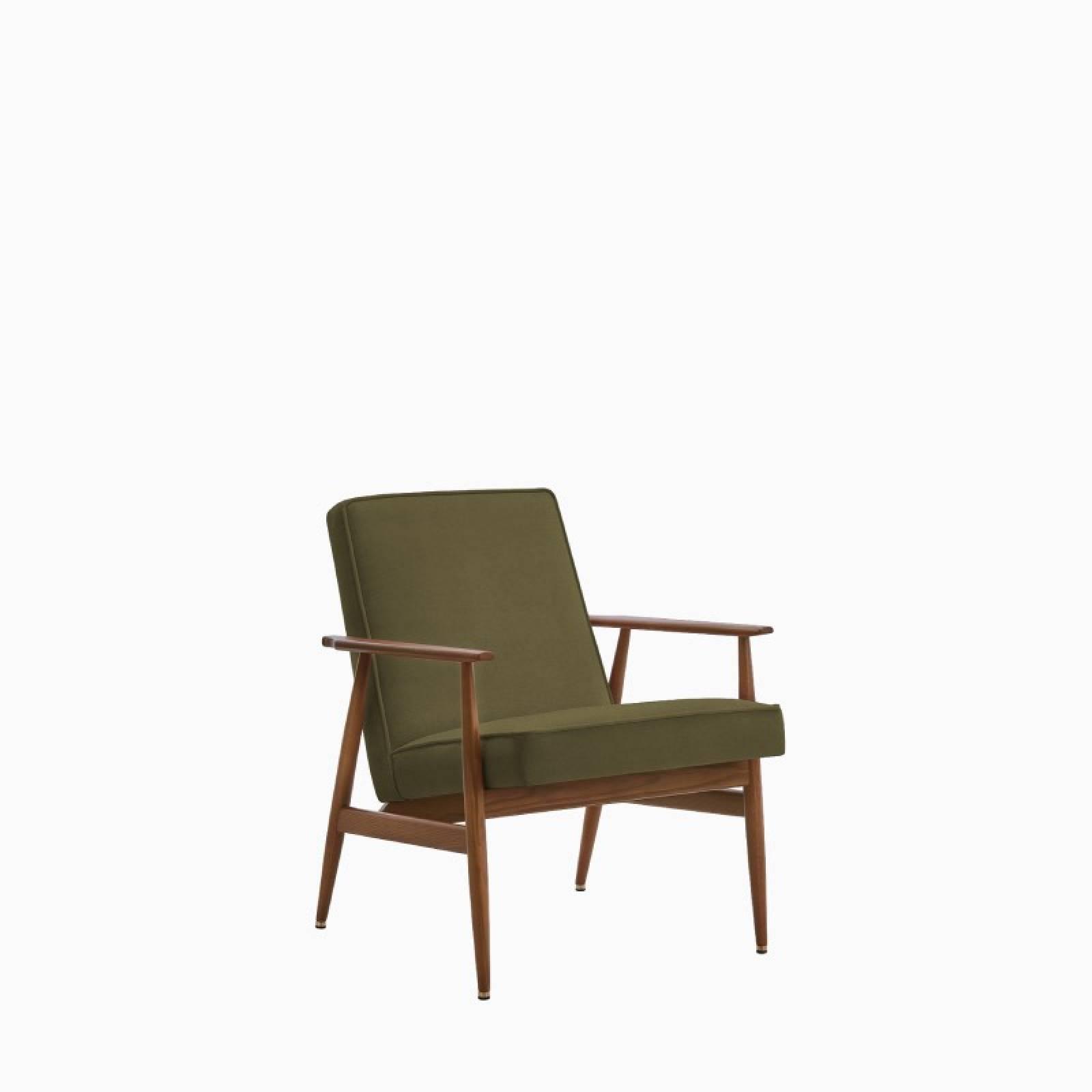 Fox Lounge Chair In Velvet Fabric thumbnails