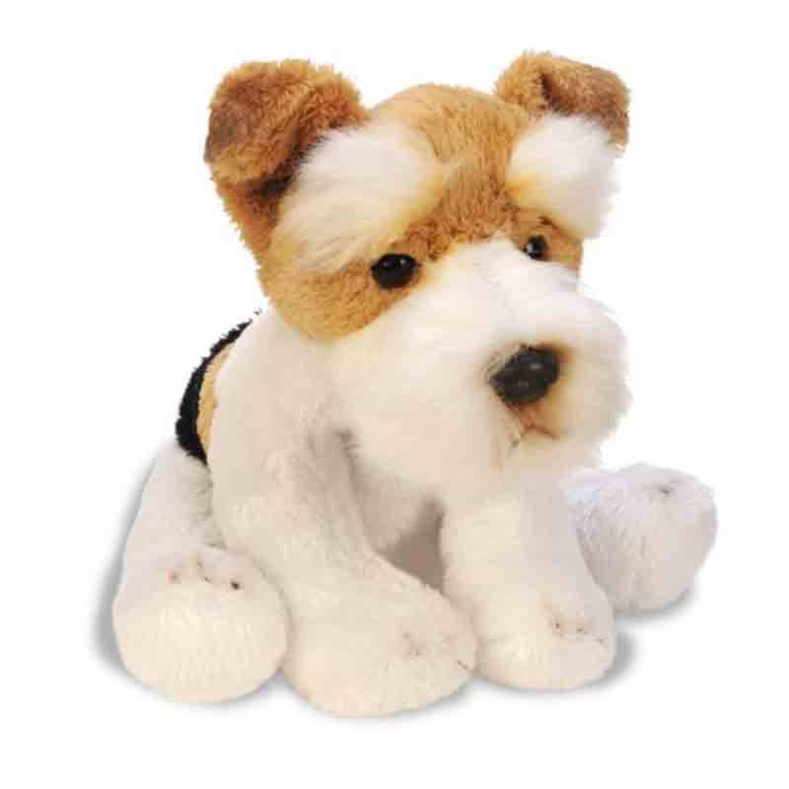 Small Sitting Fox Terrier Dog Soft Toy 12.5cm