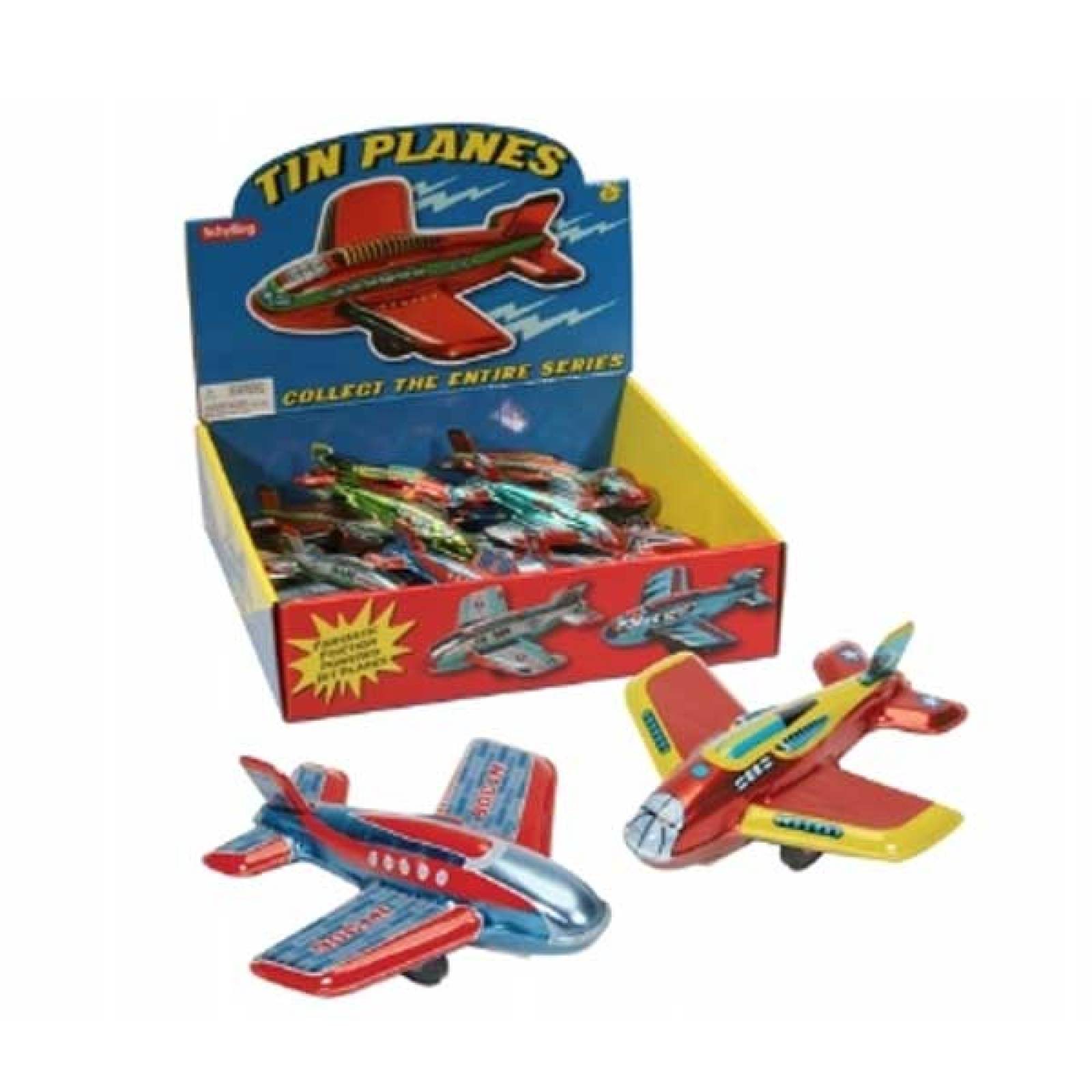 Tin Toy Friction Plane 11cm  3+yrs thumbnails