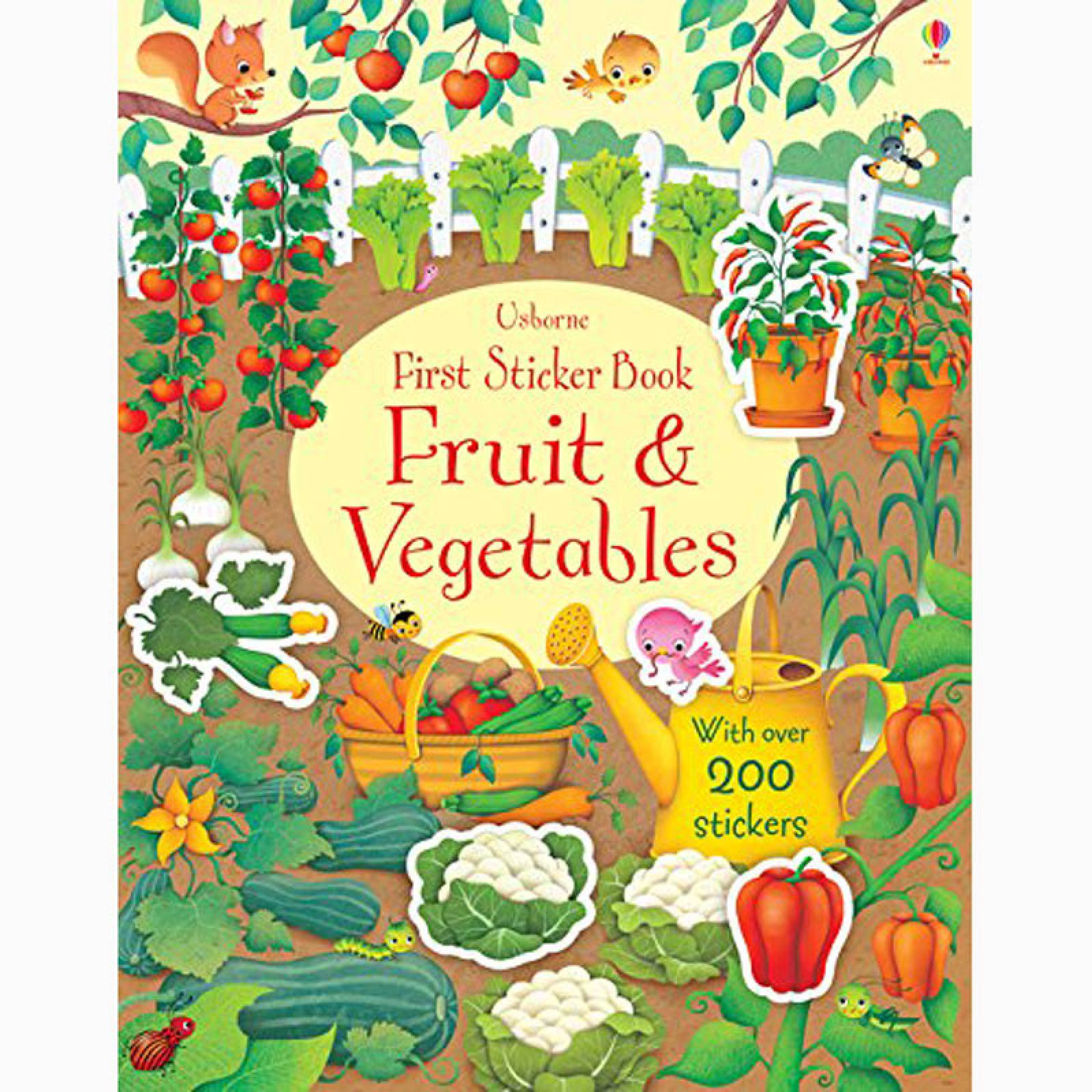 Fruit And Vegetables: First Sticker Book