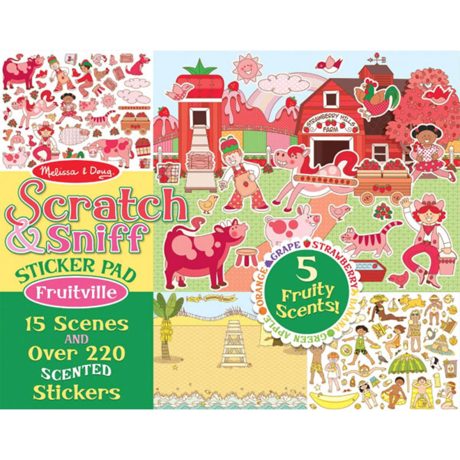 Fruitville Scratch And Sniff Sticker Pad By Melissa & Doug thumbnails