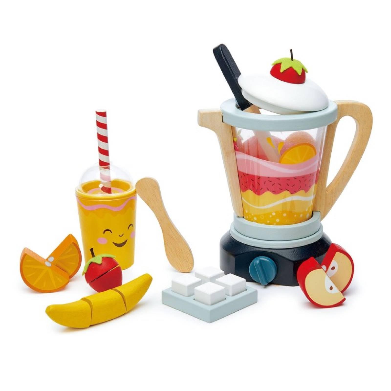 Fruity Blender Wooden Play Food Toy Set 3+