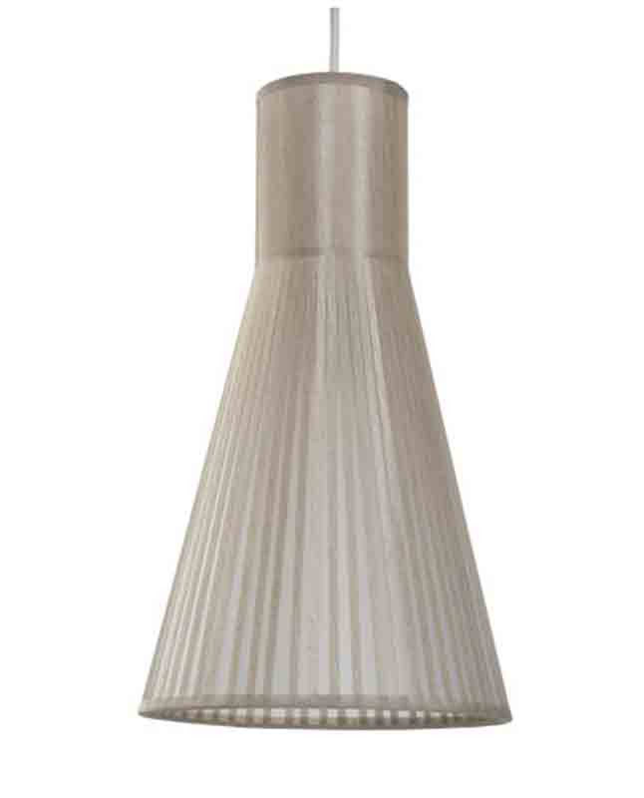 Taupe Funnel Hanging Shade