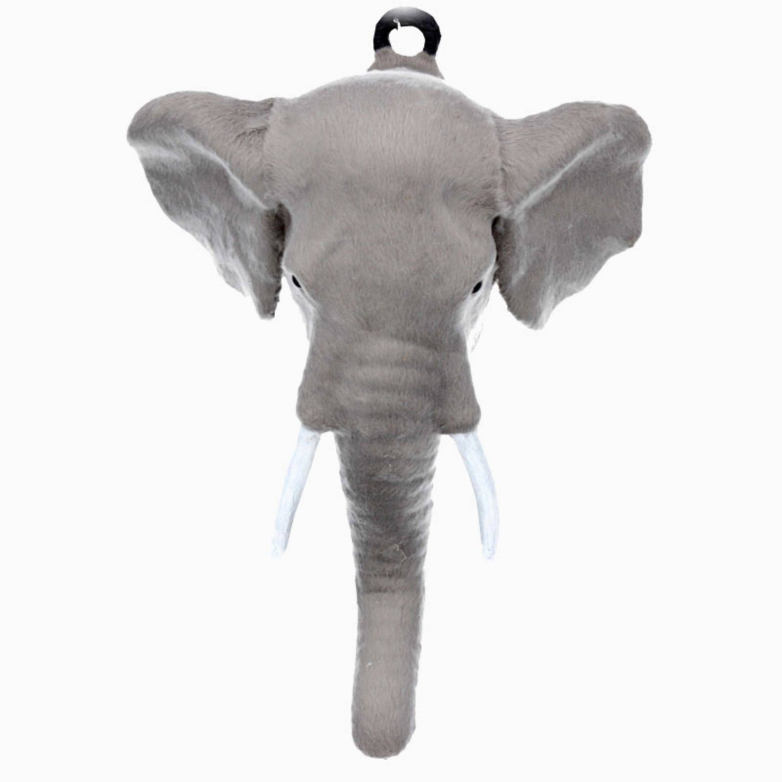 Furry Elephant Head Wall Decoration