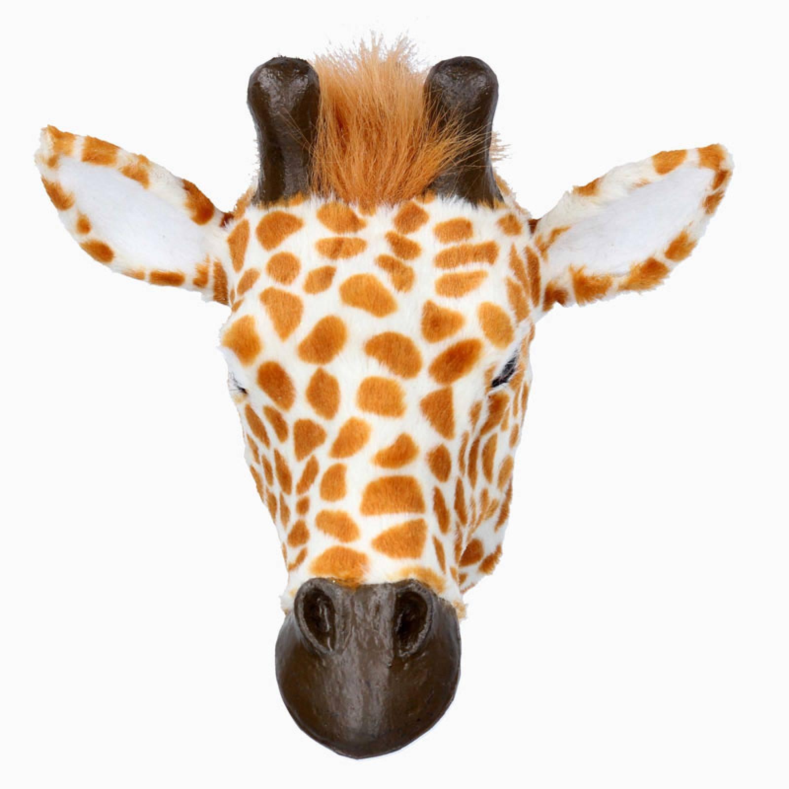 Furry Giraffe Head Wall Decoration