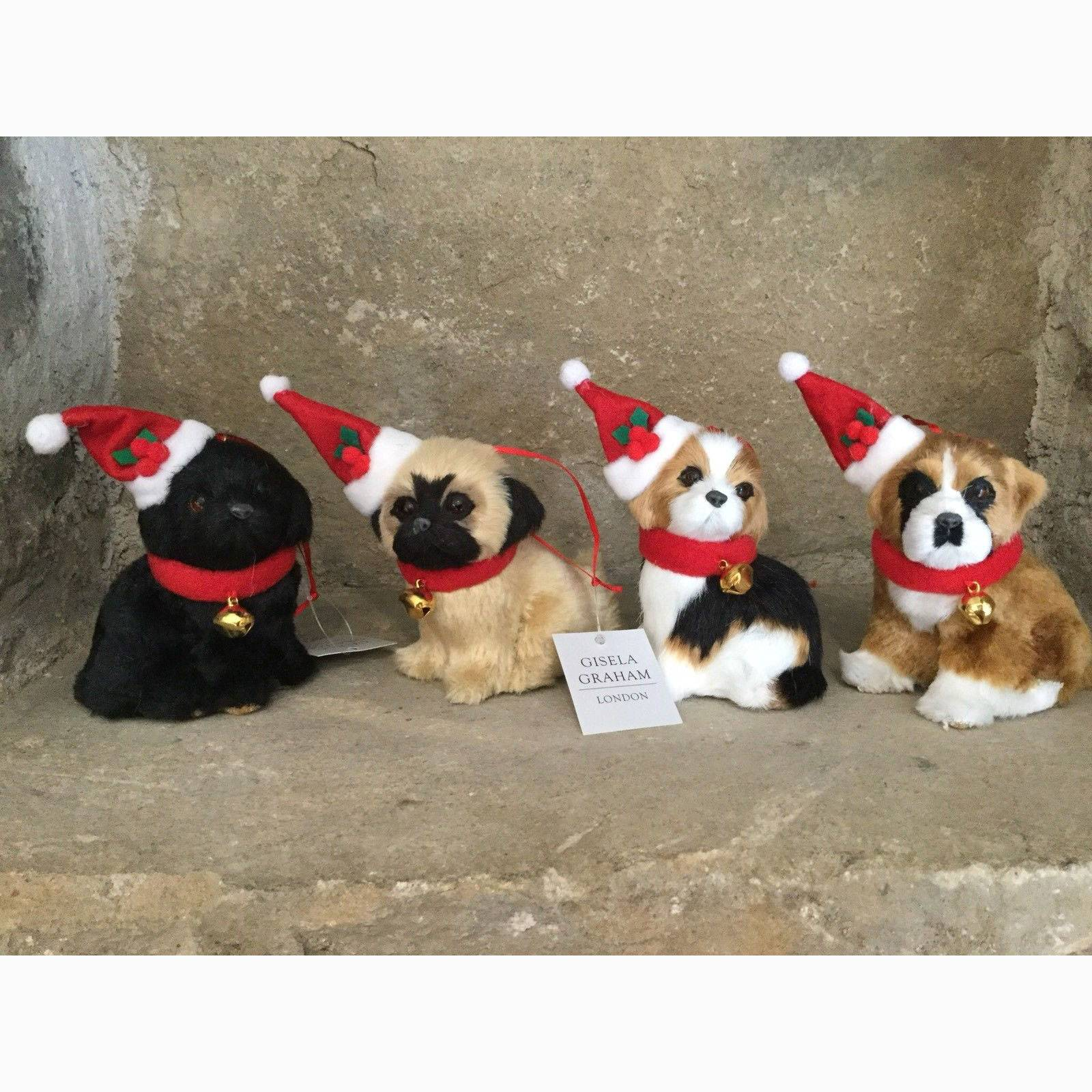 Furry Puppy Christmas Decoration By Gisela Graham