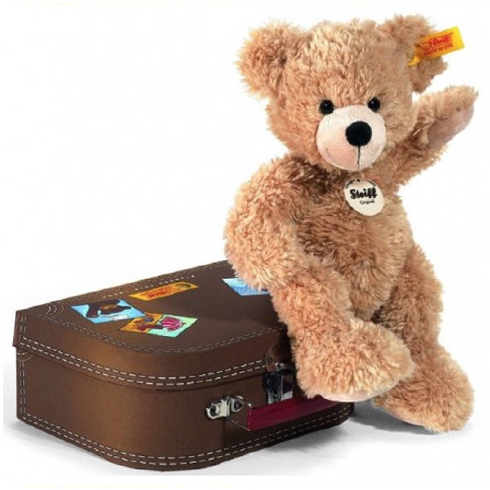 Fynn Bear Soft Toy In Suitcase By Steiff thumbnails
