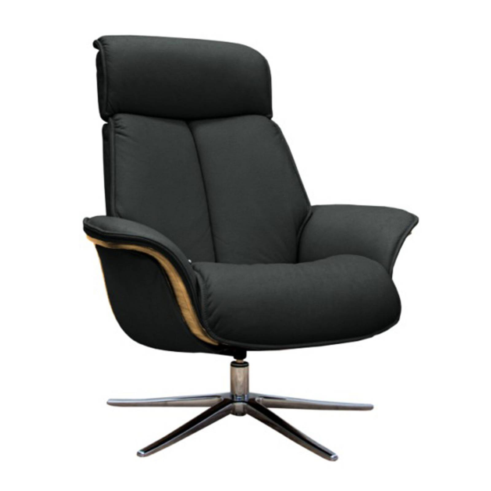 G Plan - The Lund - Recliner Armchair & Footstool - Leather Side