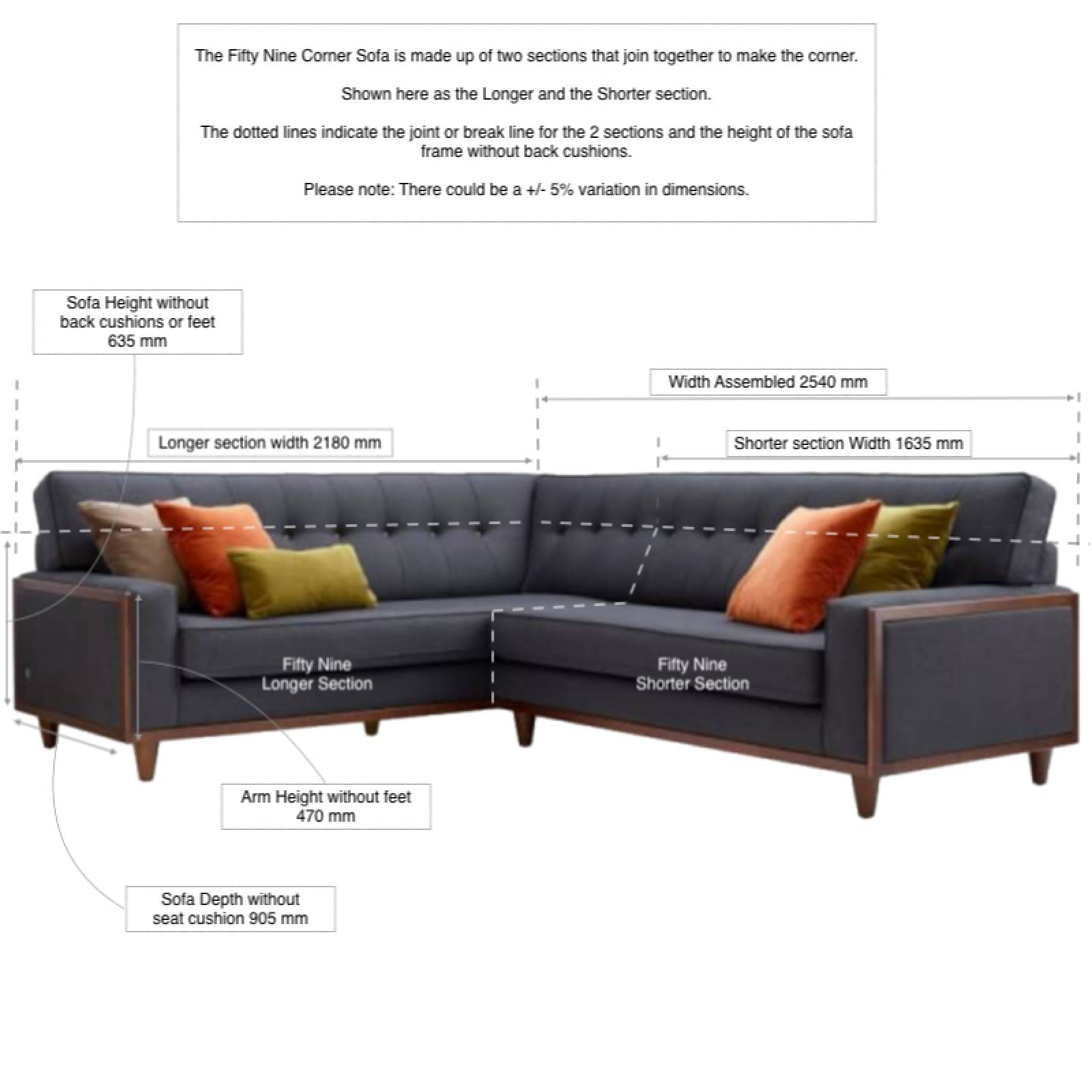 G Plan Vintage The Fifty Nine Right Hand Corner Fabric Sofa thumbnails