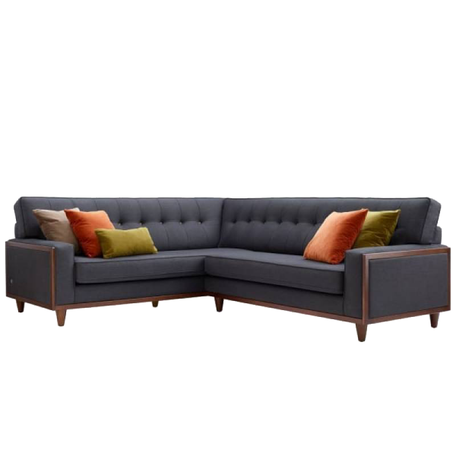 G Plan Vintage The Fifty Nine Left Hand Corner Fabric Sofa
