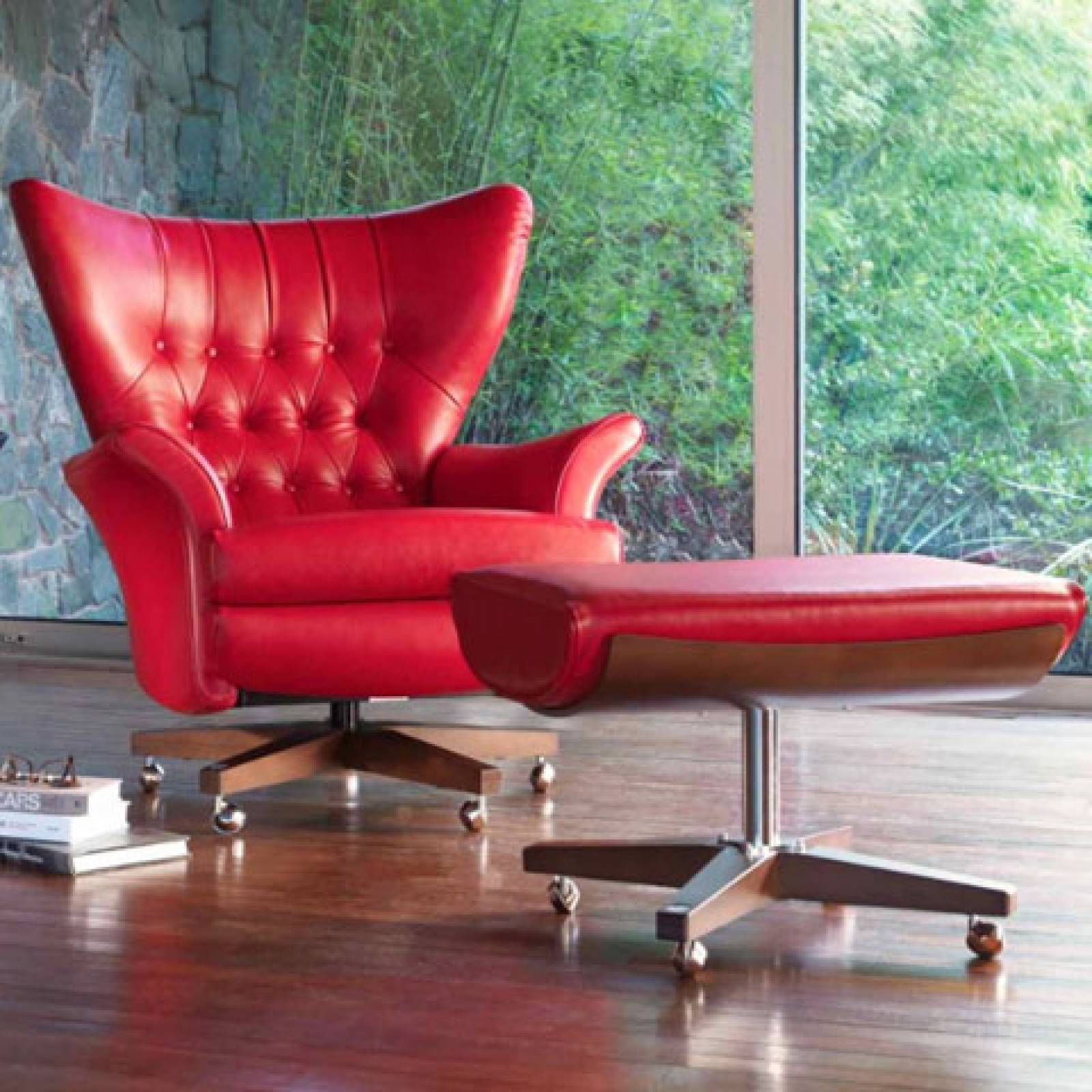 G Plan Vintage The Sixty Two Leather Swivel Armchair thumbnails
