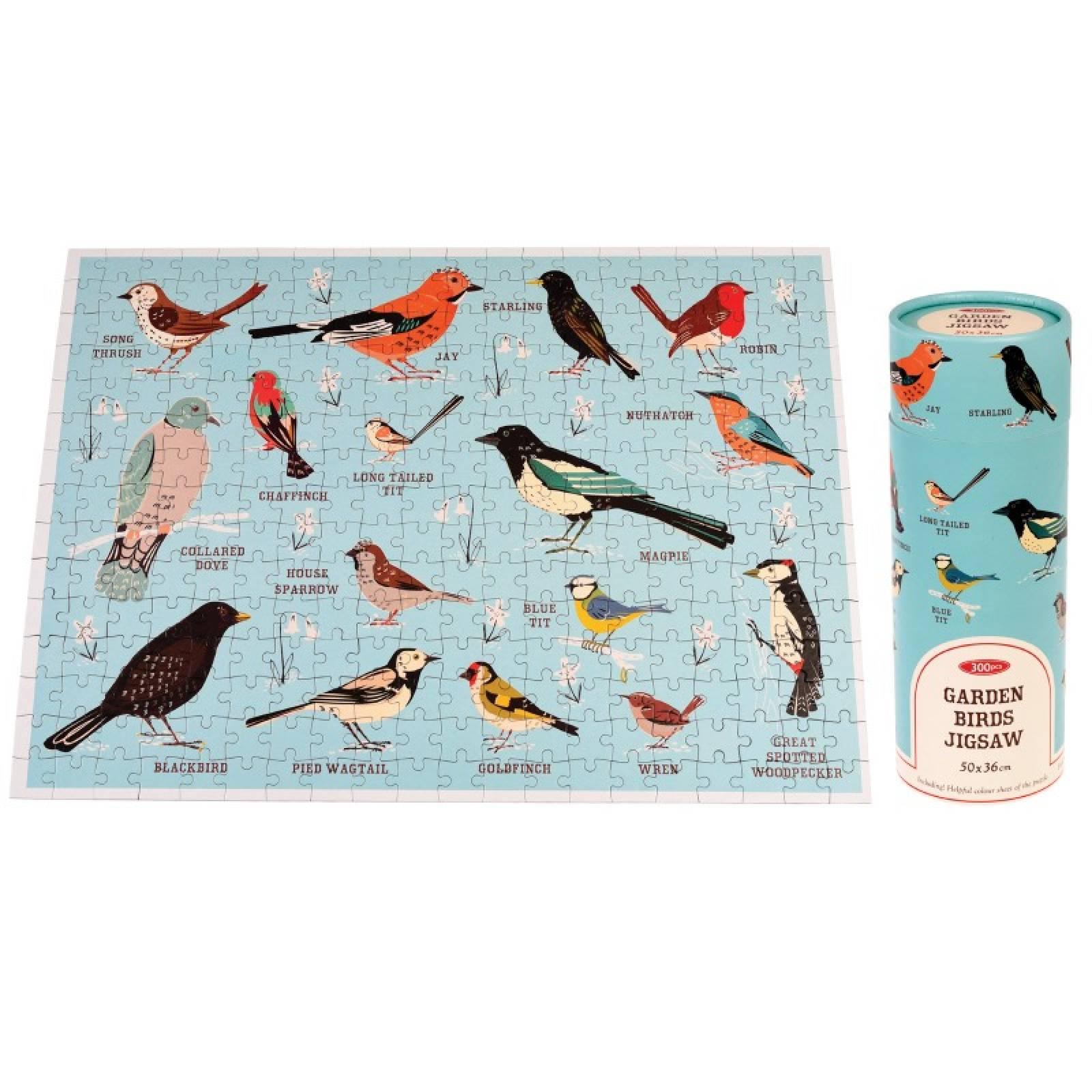 Garden Birds Puzzle In Tube Box