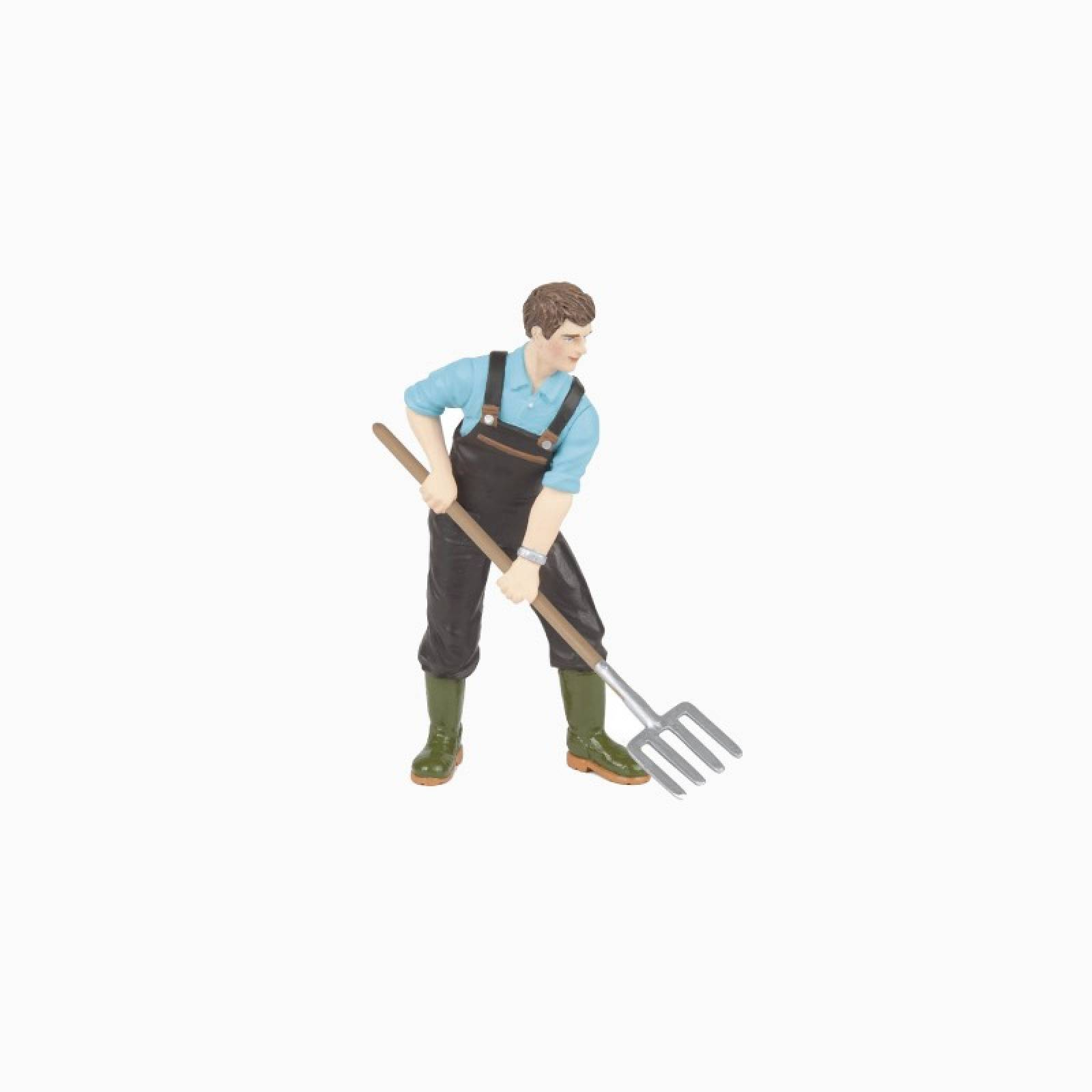 Gardener With Pitch Fork - Papo Farm Figure