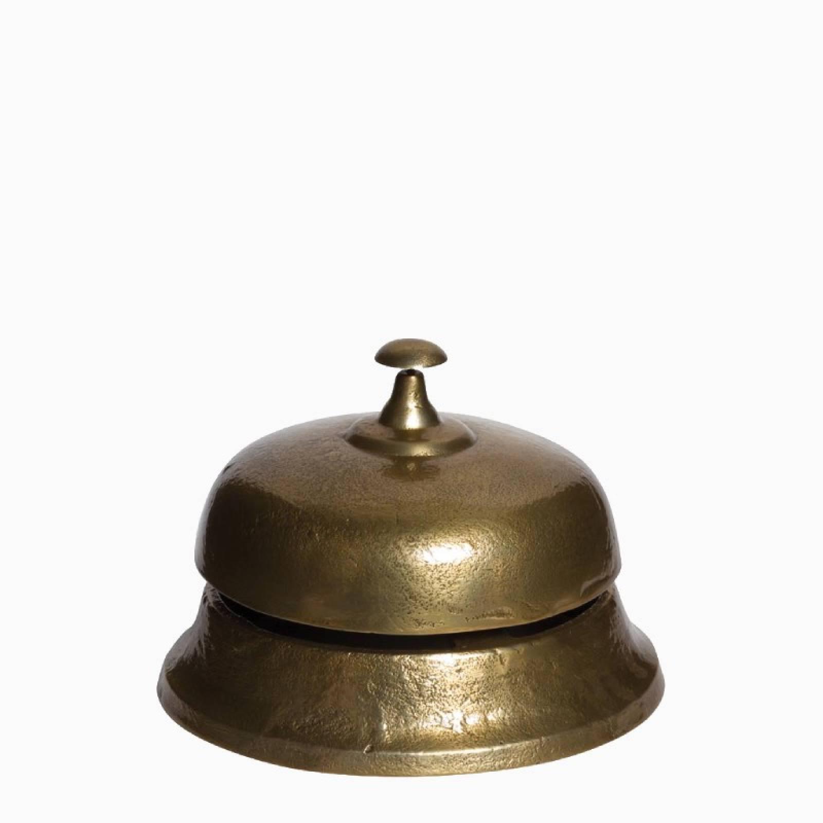 Giant Dark Gold Metal Hotel Bell