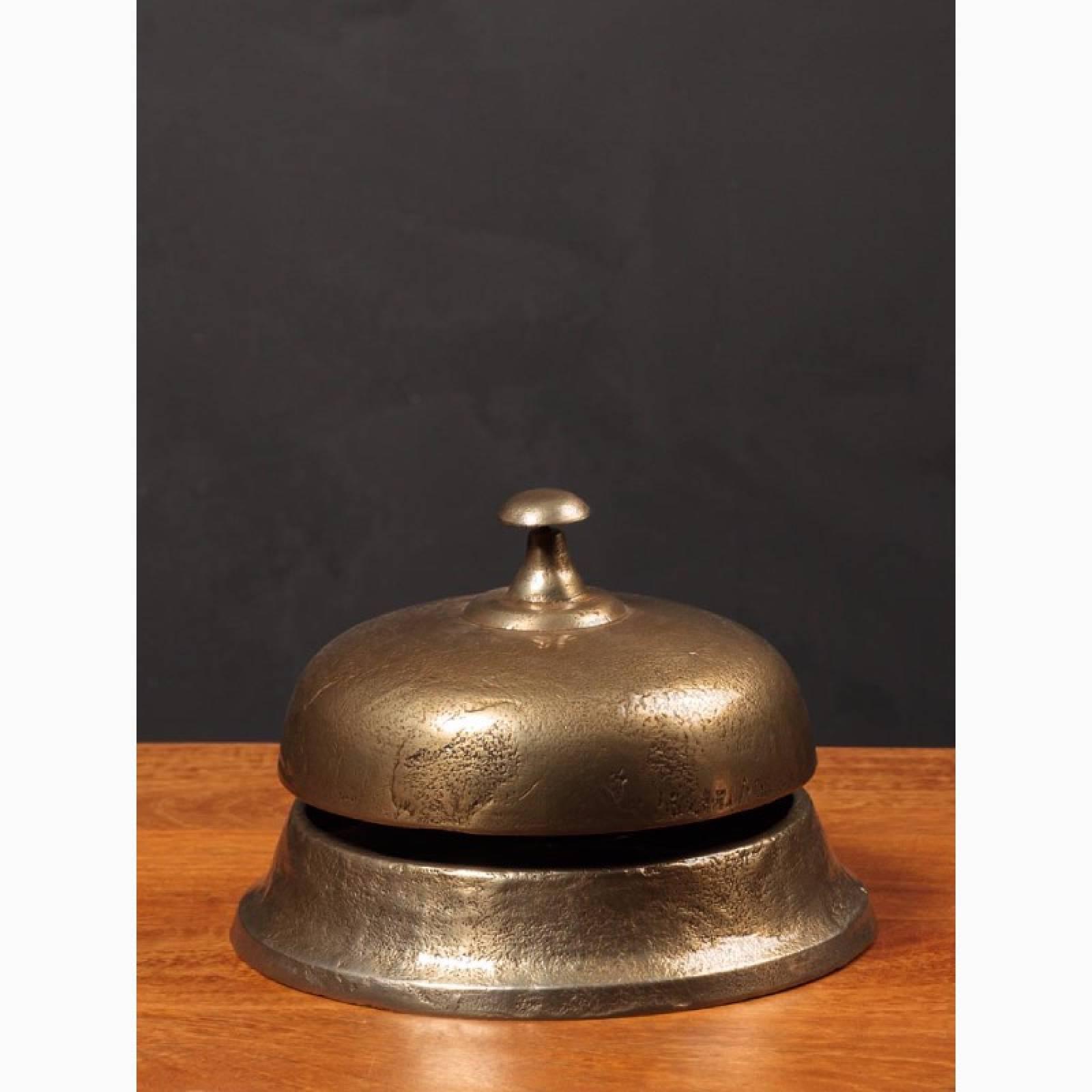 Giant Dark Gold Metal Hotel Bell thumbnails