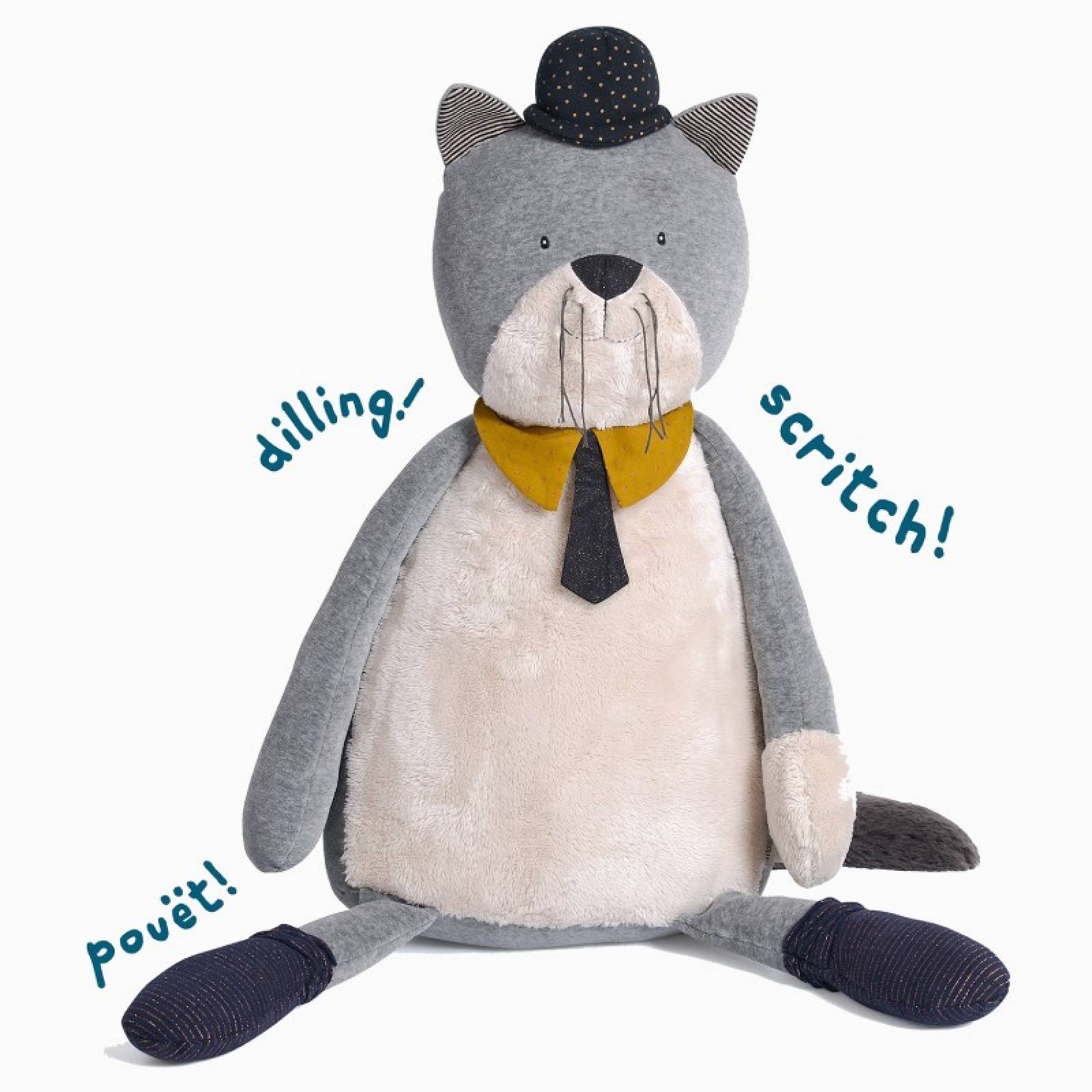 Giant Fernand The Cat Soft Toy Les Moustaches 0+