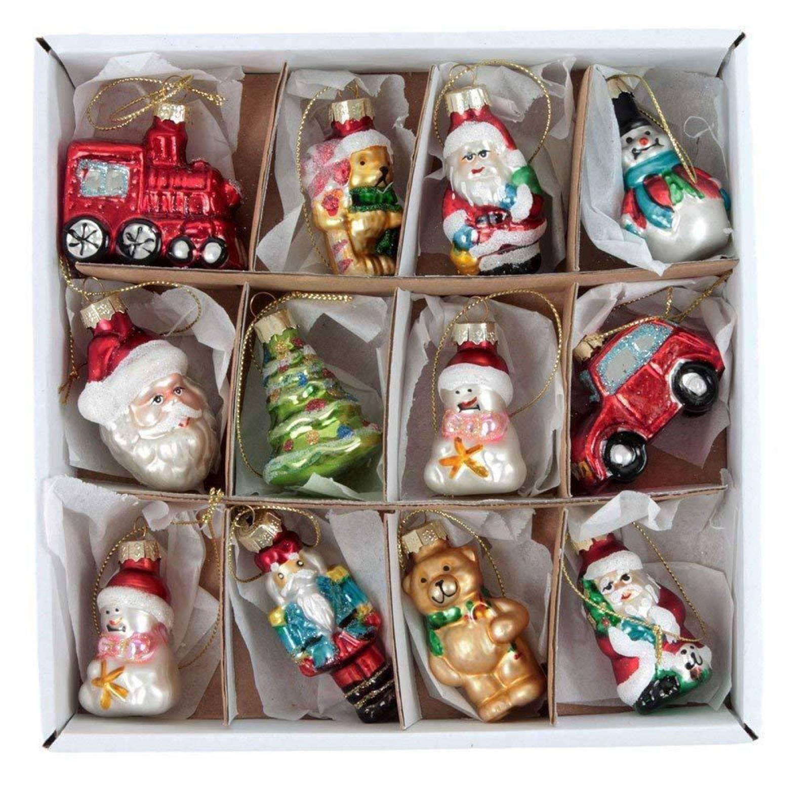 Glass Mini Shapes Christmas Decorations By Gisela Graham