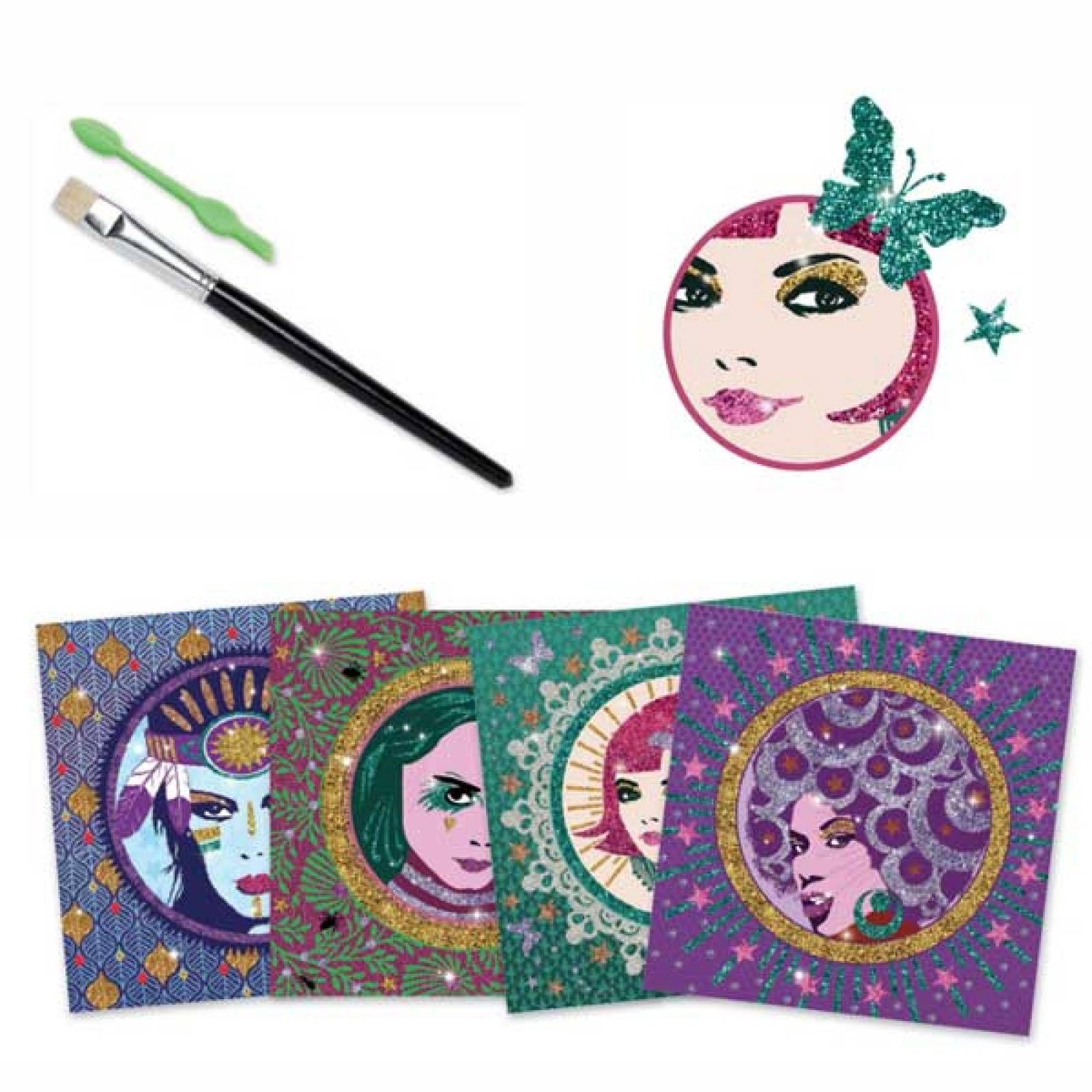 Glitter Boards Cleo Pop and Rock Art Set Djeco 9-15yrs thumbnails